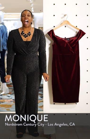 Bella Off the Shoulder Velvet Dress, sales video thumbnail