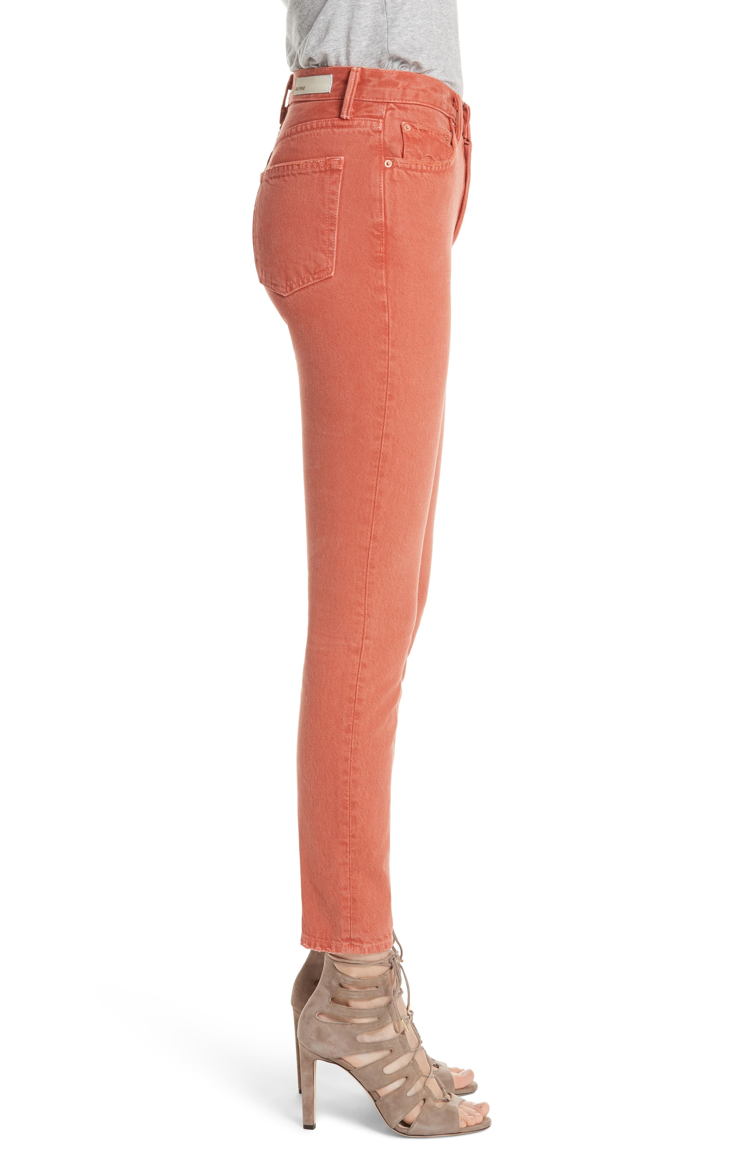 Karolina High Waist Skinny Jeans,                             Alternate thumbnail 3, color,                             MARRAKECH
