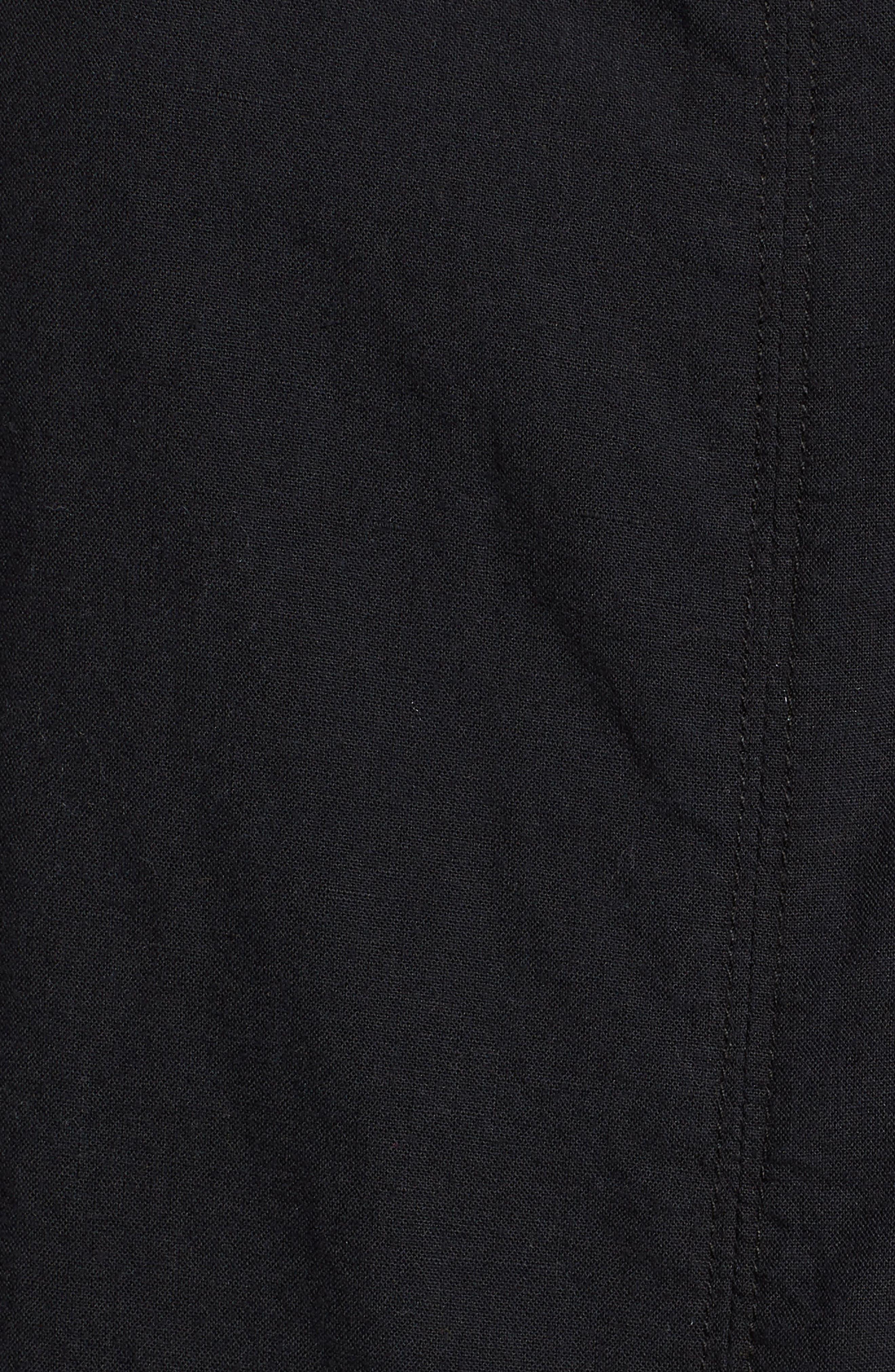 Darcy Tie Back Jumpsuit,                             Alternate thumbnail 6, color,                             TRUE BLACK