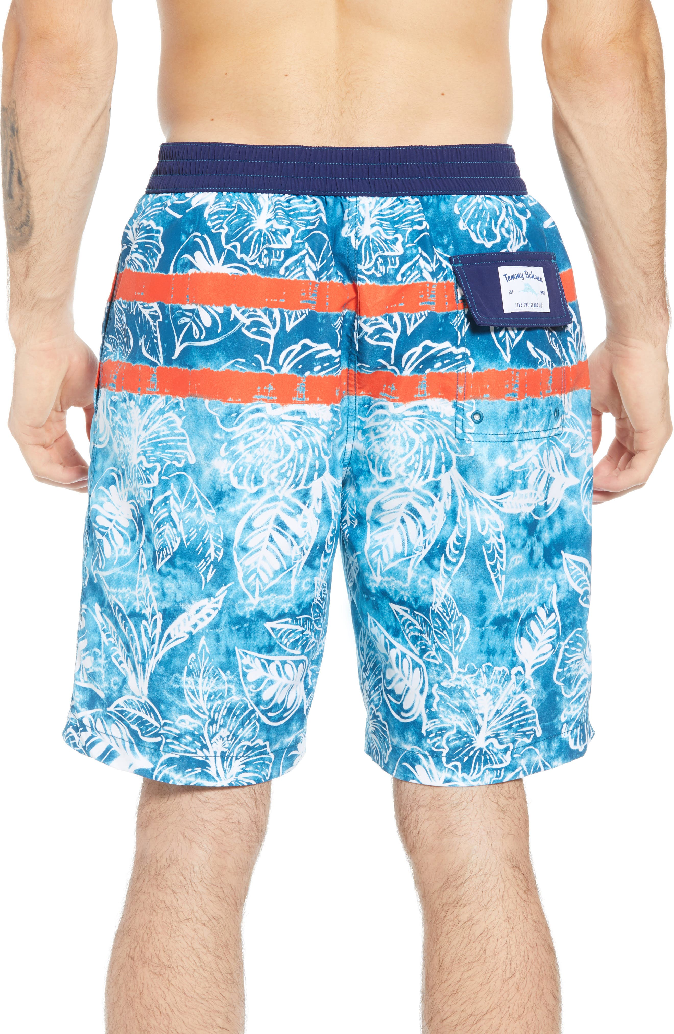 Baja Mar Batik Print Board Shorts,                             Alternate thumbnail 2, color,                             RIVIERA AZURE