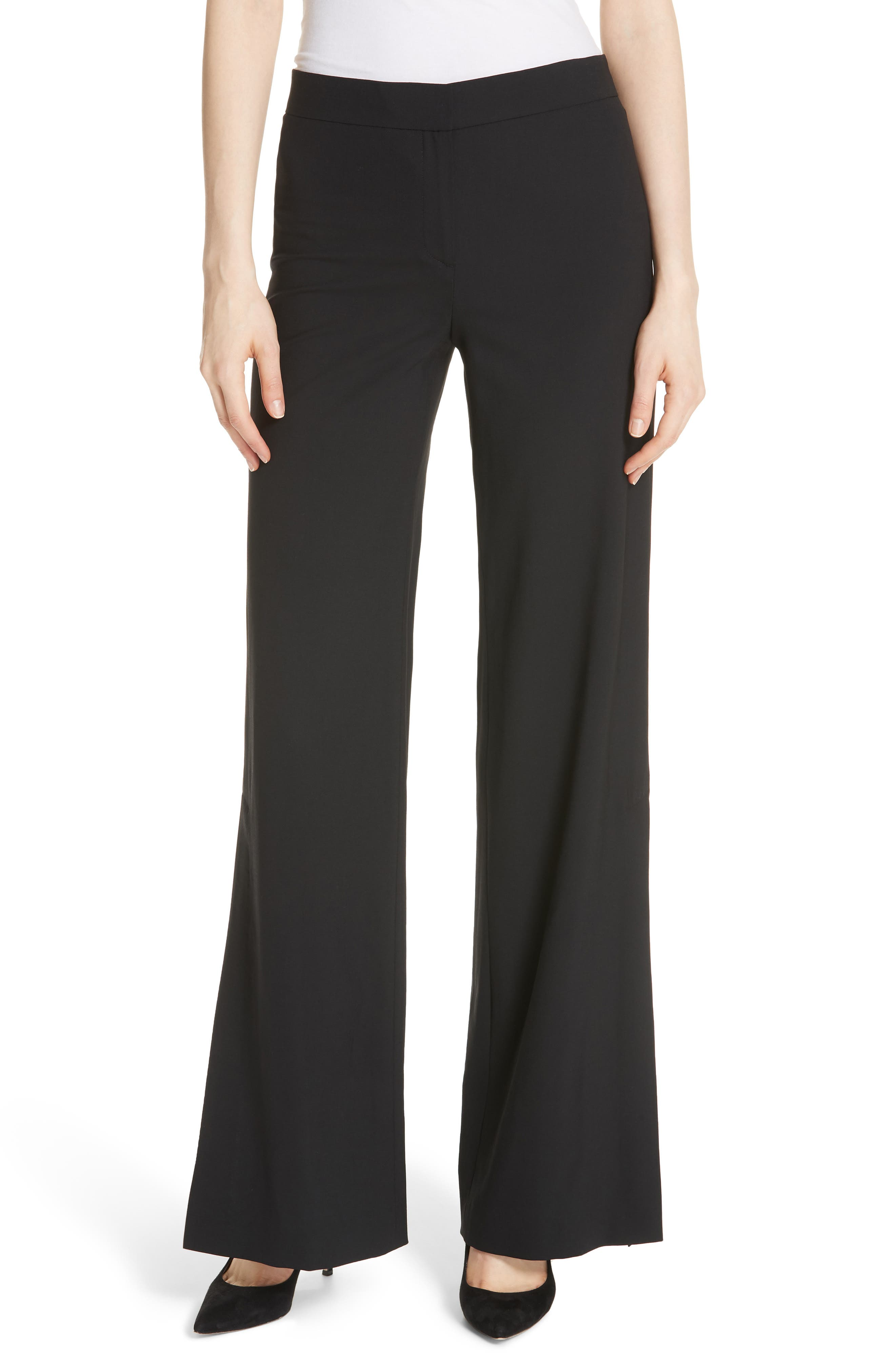 High Slit Admiral Crepe Pants,                         Main,                         color,