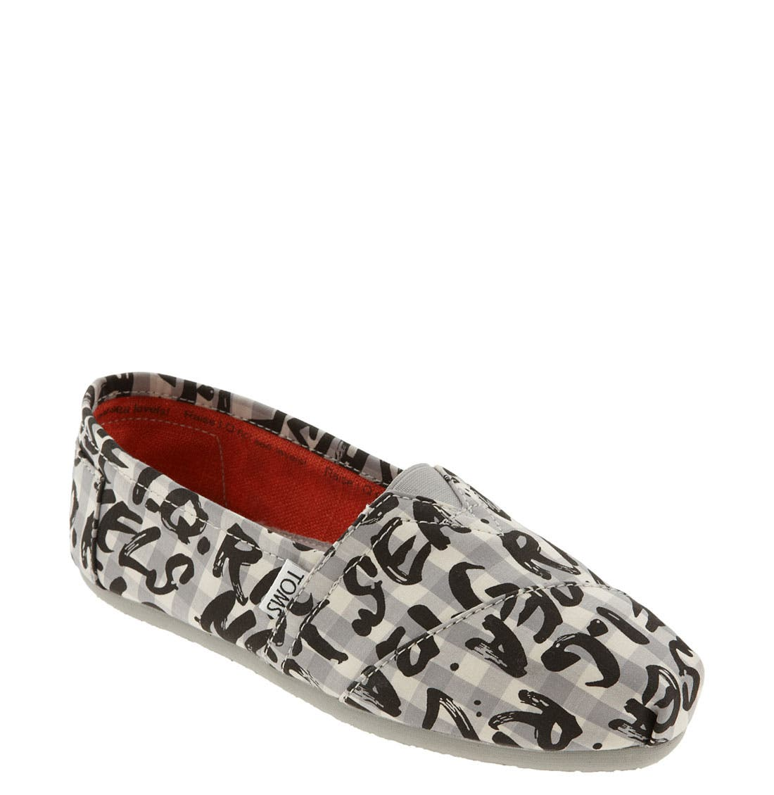 TOMS,                             'Dare to Teach' Slip-On,                             Main thumbnail 1, color,                             001