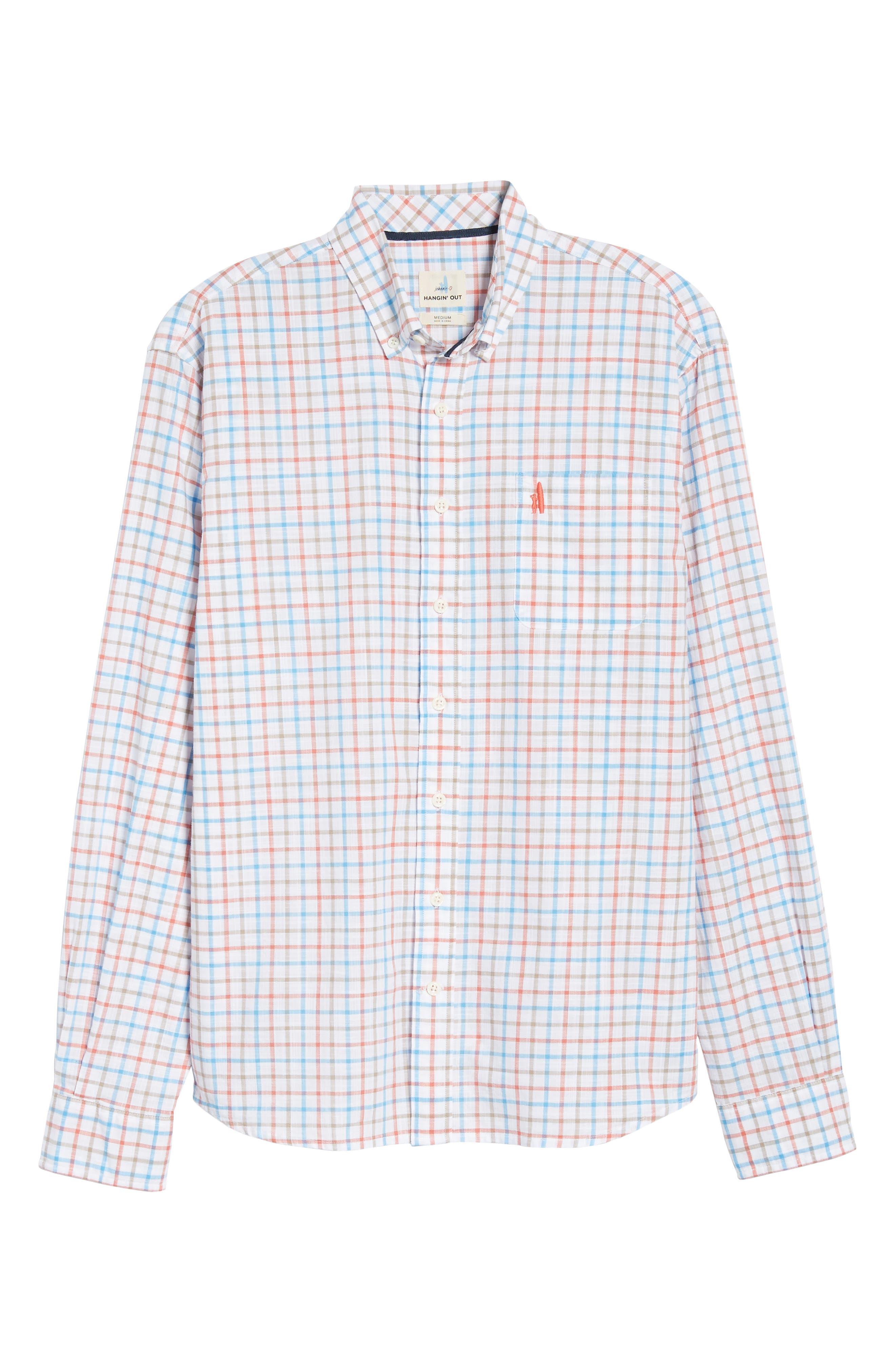 Grayson Regular Fit Sport Shirt,                             Alternate thumbnail 6, color,