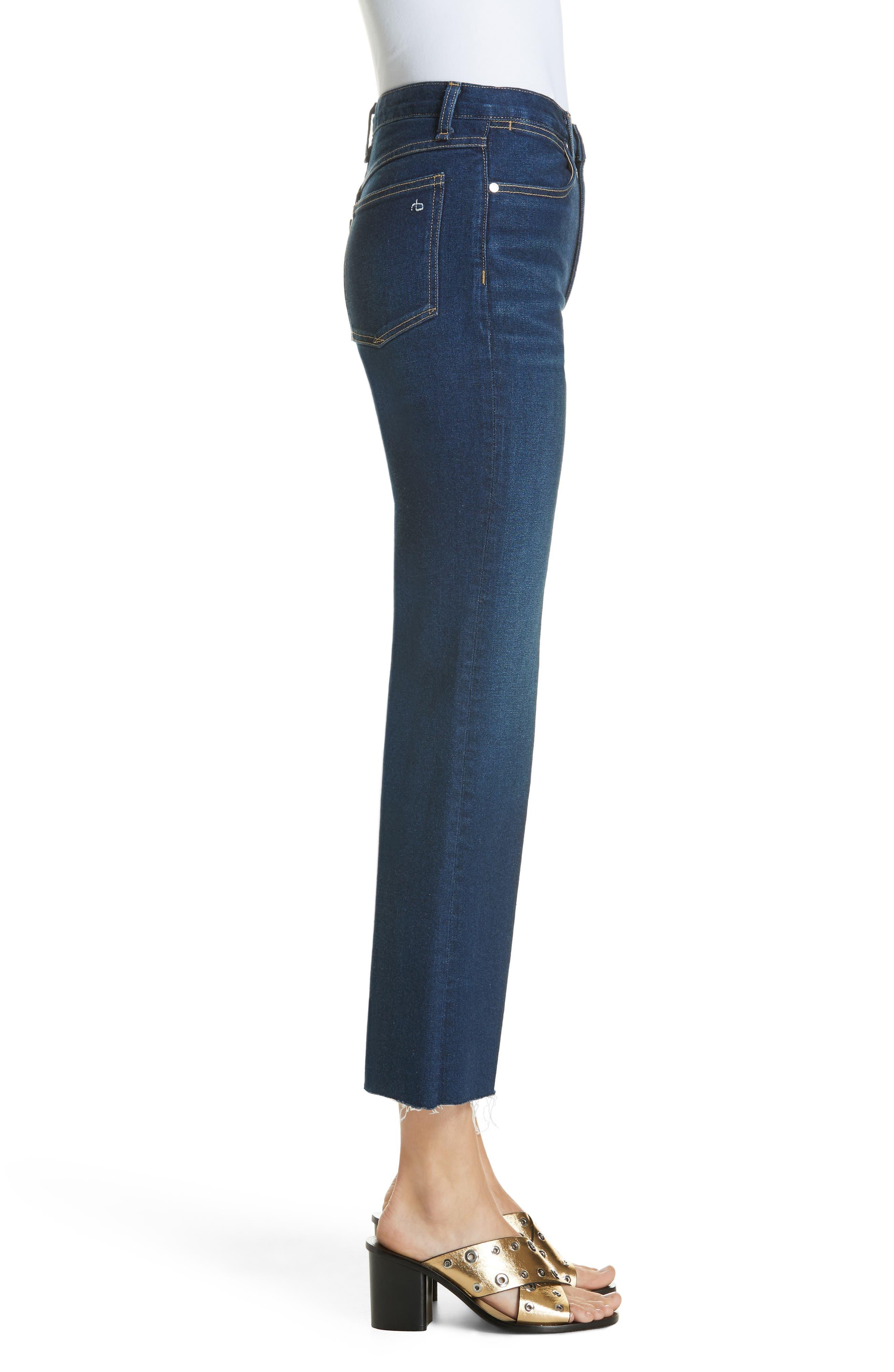 RAG & BONE,                             Justine High Waist Crop Wide Leg Jeans,                             Alternate thumbnail 3, color,                             410
