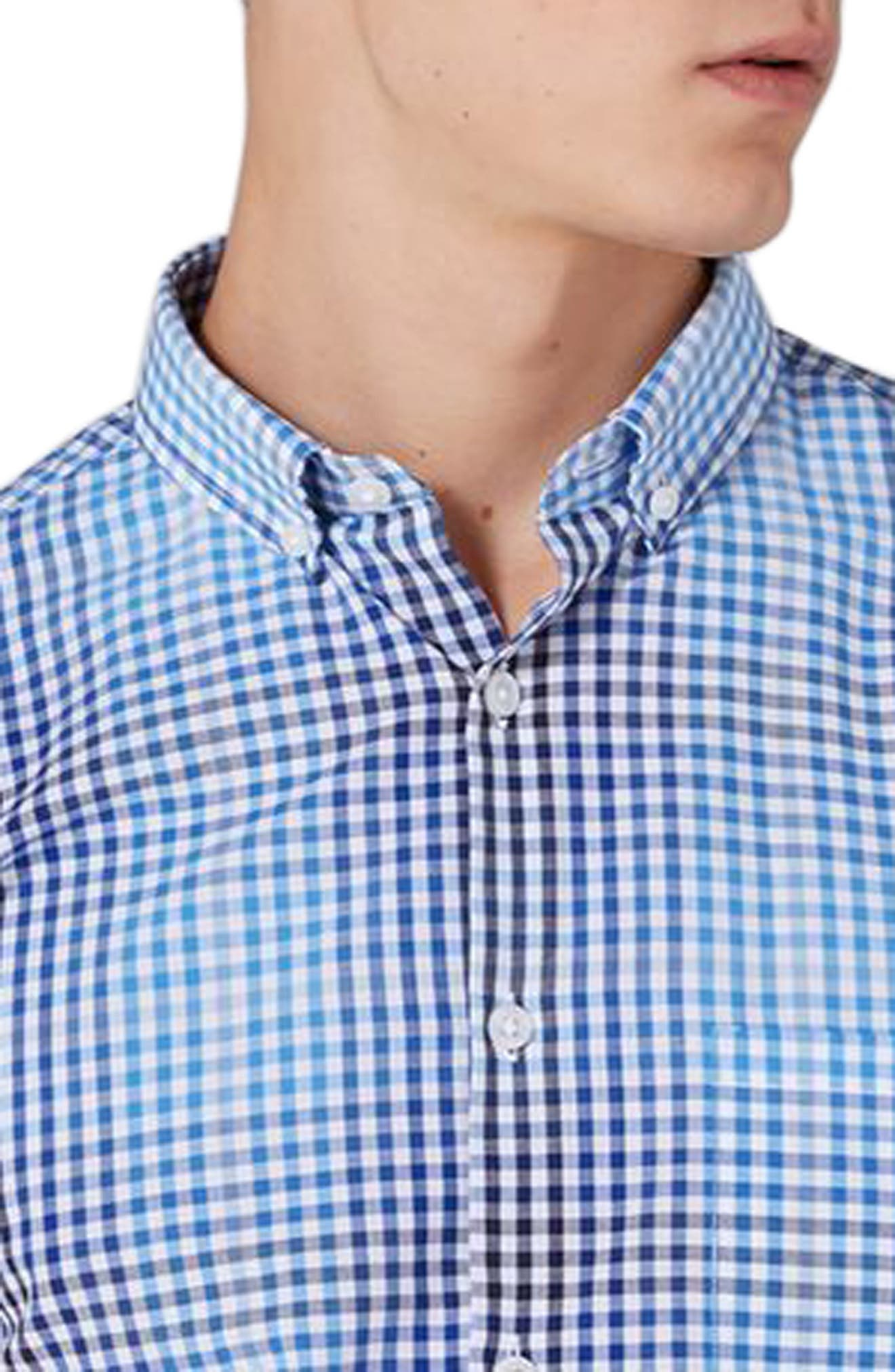 Ombré Gingham Woven Shirt,                             Alternate thumbnail 3, color,