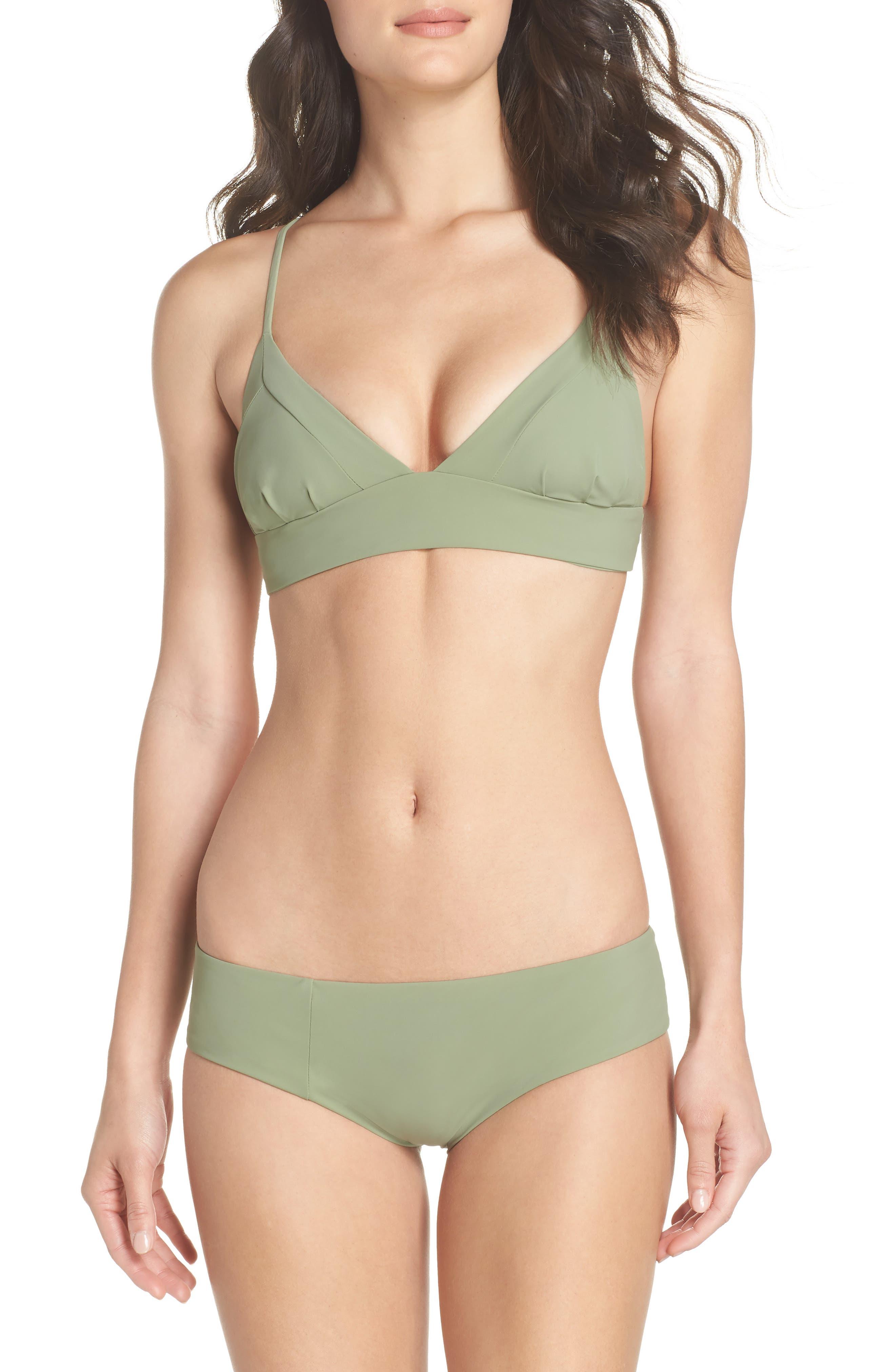 Dana the Delinquent Bikini Top,                             Alternate thumbnail 7, color,                             SAGE