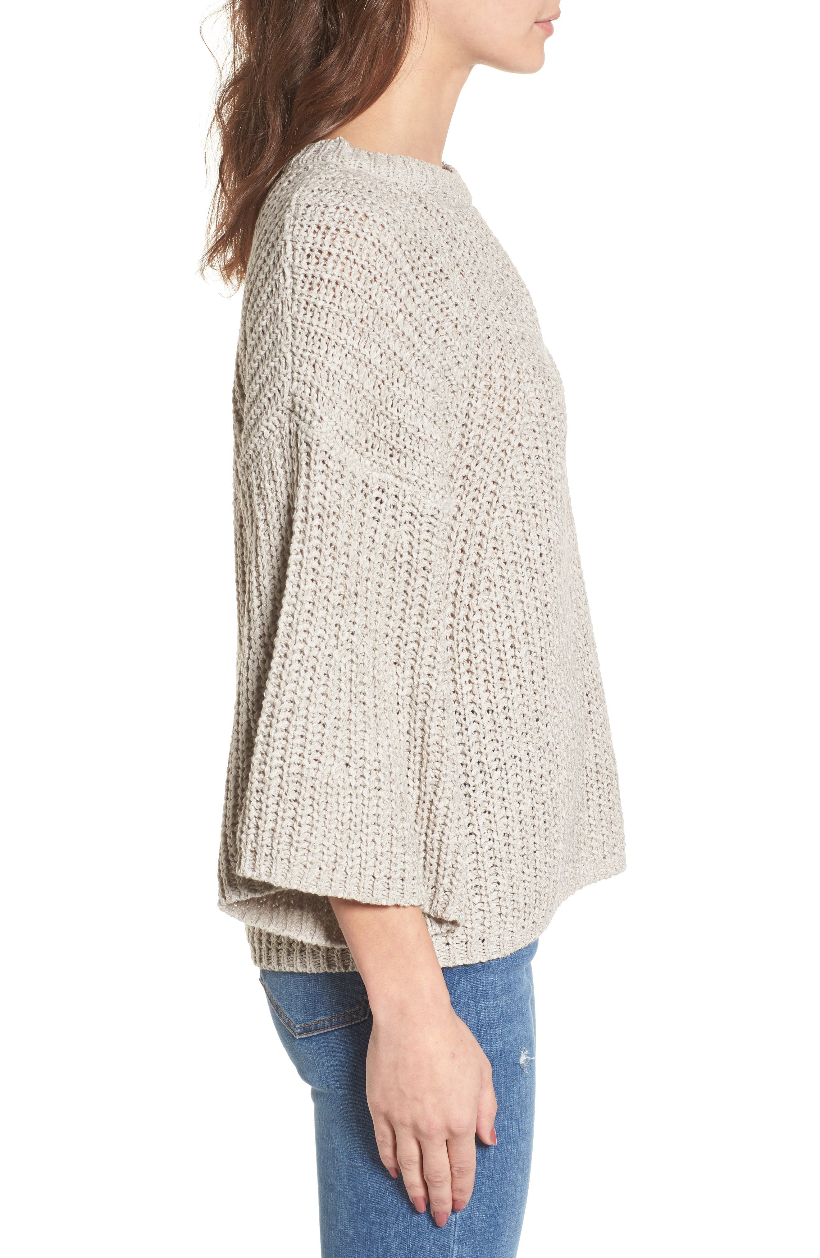 Bell Sleeve Sweater,                             Alternate thumbnail 3, color,                             280