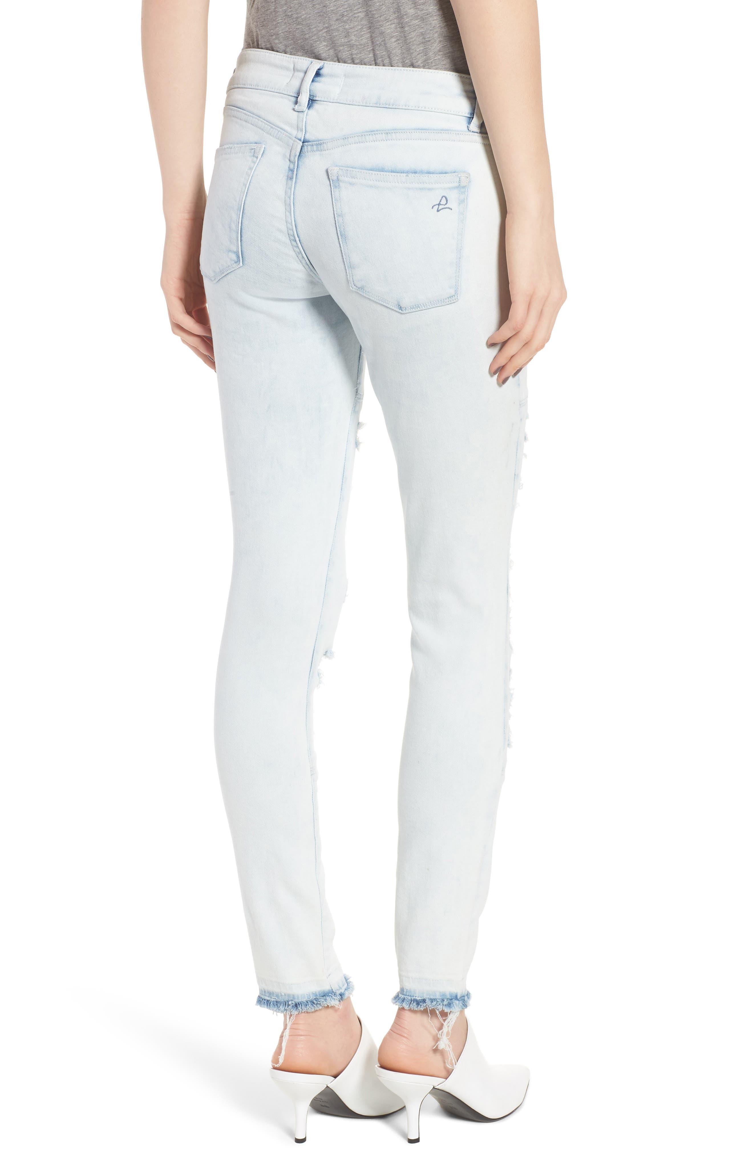 Emma Power Legging Ripped Skinny Jeans,                             Alternate thumbnail 2, color,                             020