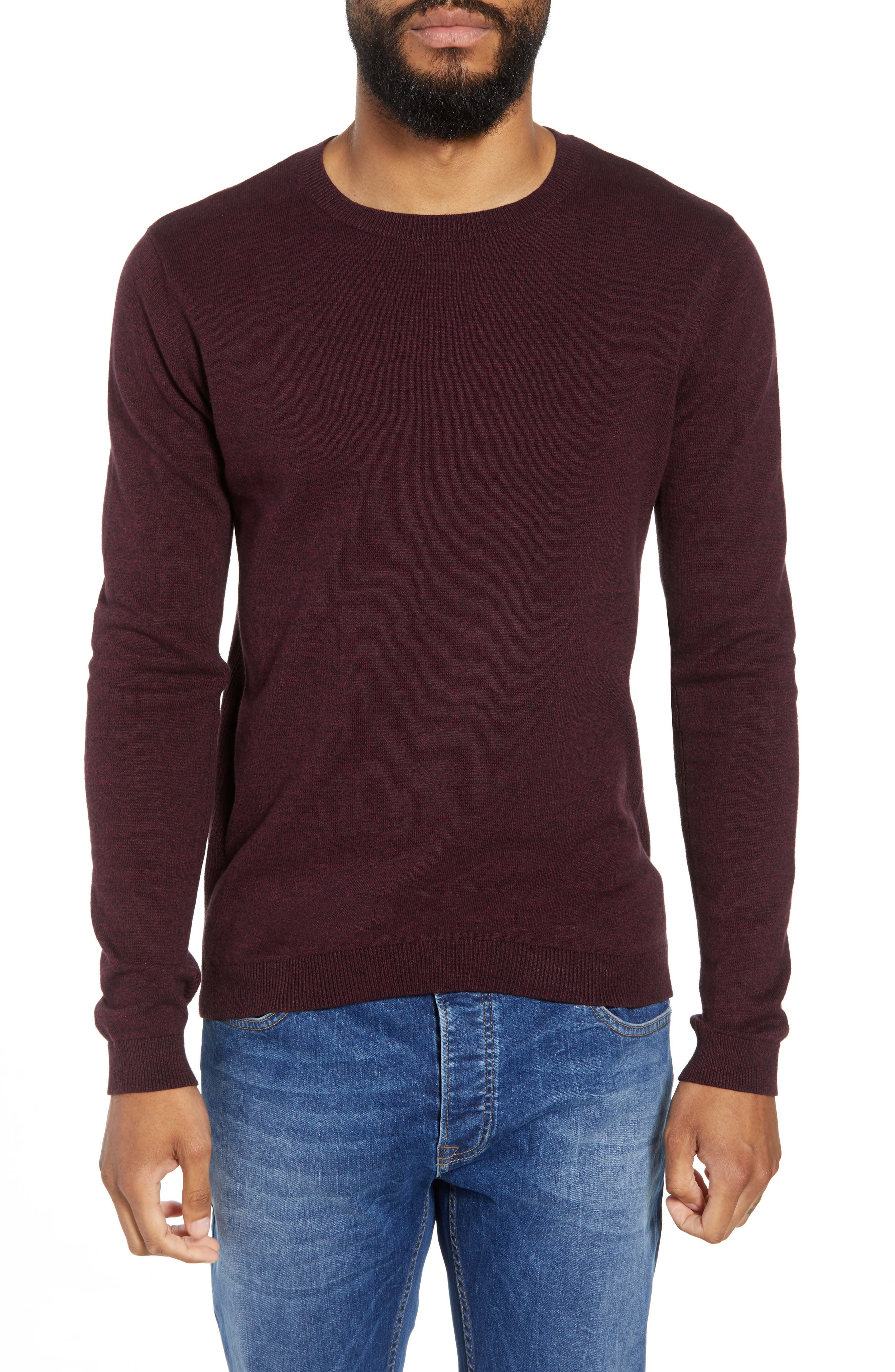 Twist Side Rib Crewneck Sweater,                             Main thumbnail 2, color,
