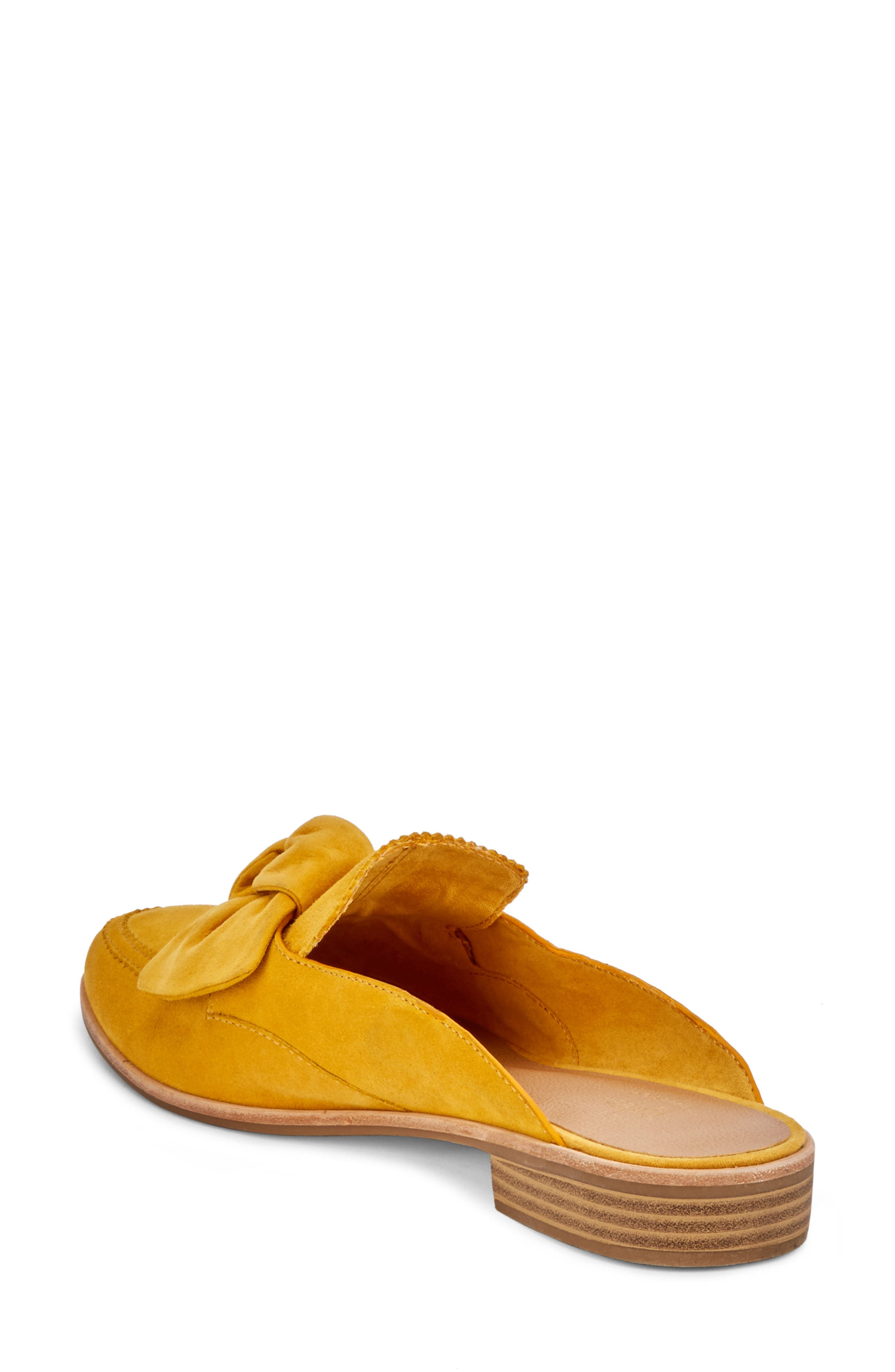 Ebbie Bow Mule,                             Alternate thumbnail 2, color,                             YELLOW SUEDE