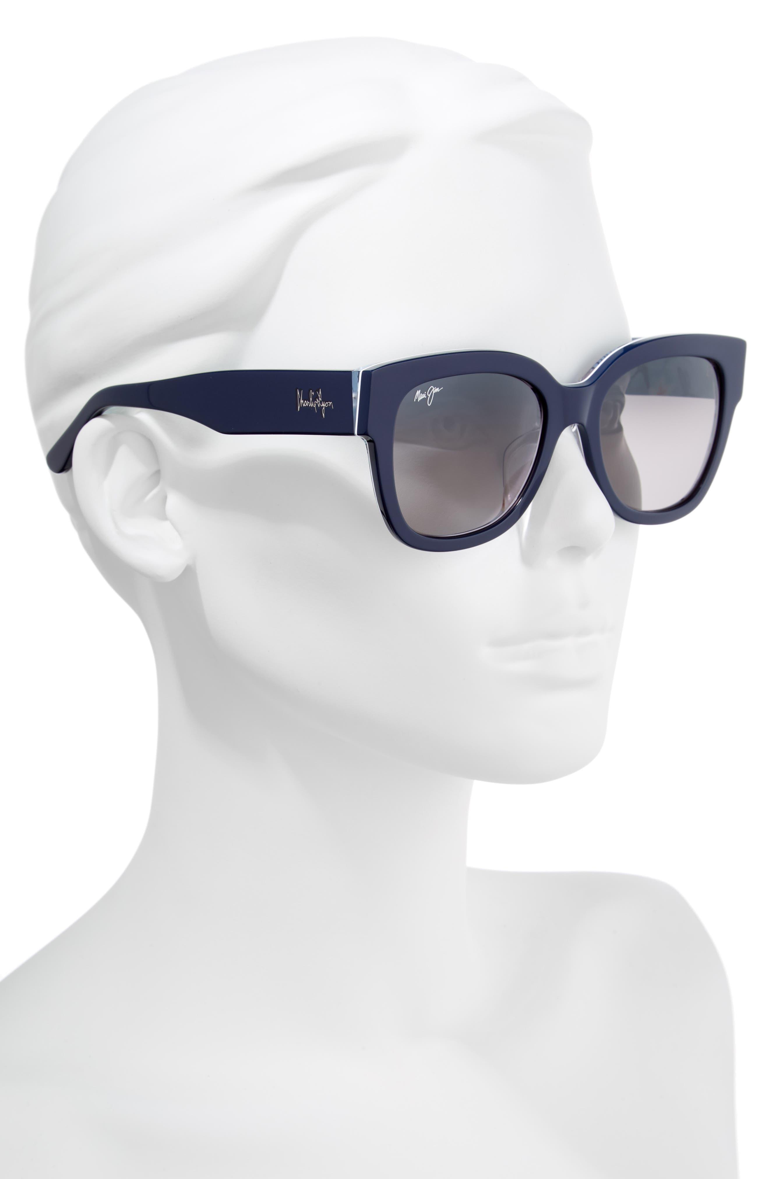 54mm Rhythm Polarized Sunglasses,                             Alternate thumbnail 2, color,                             NAVY BLUE/ NEUTRAL GREY