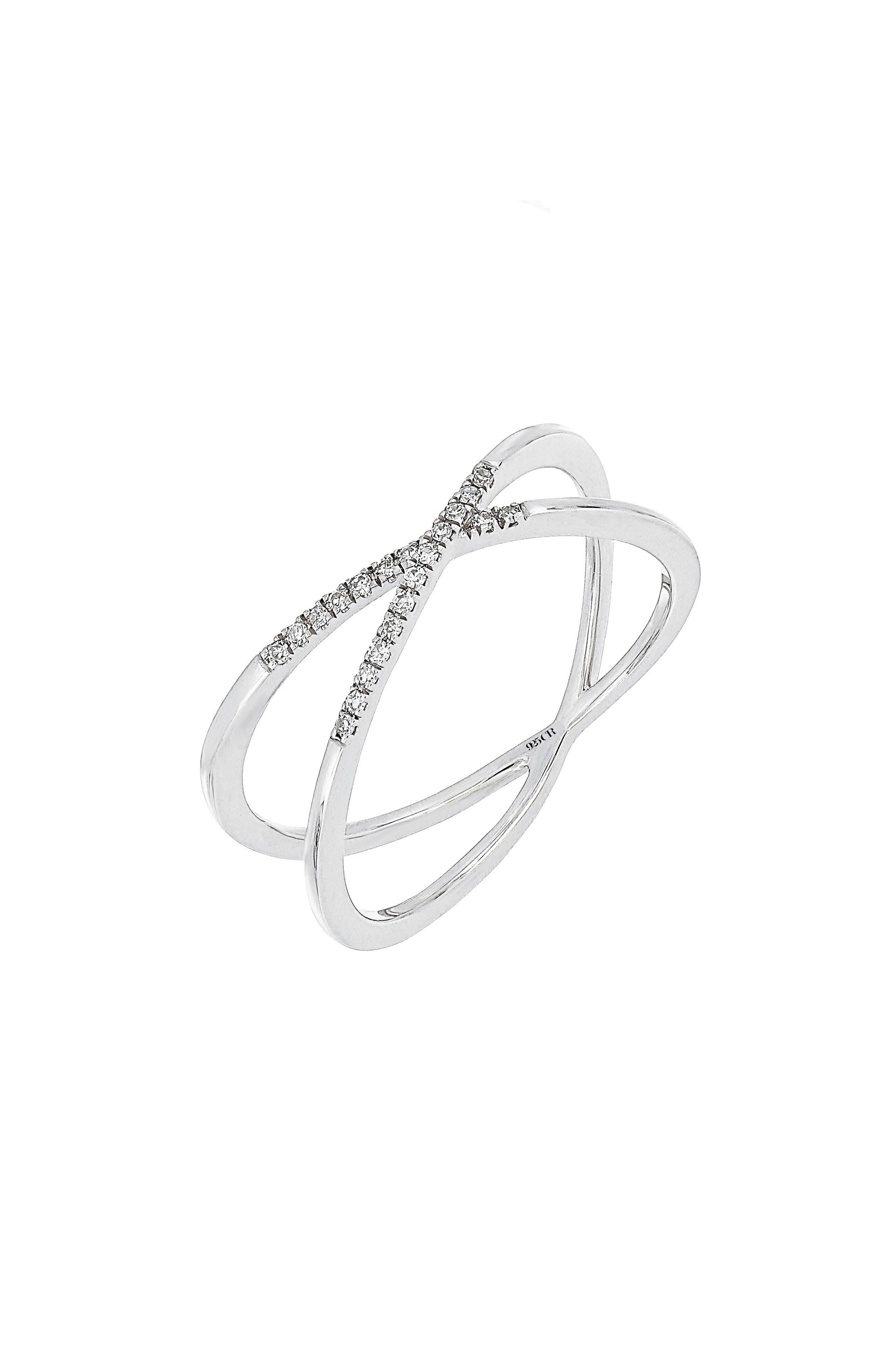 Carrière Crisscross Diamond Ring,                             Main thumbnail 1, color,                             040