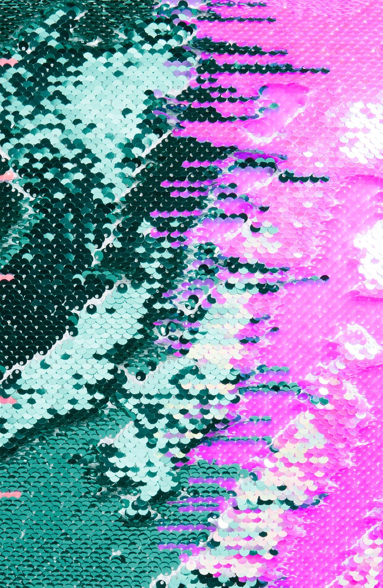 Magic Flip Sequin Velvet Accent Pillow,                             Alternate thumbnail 3, color,                             GRADIENT