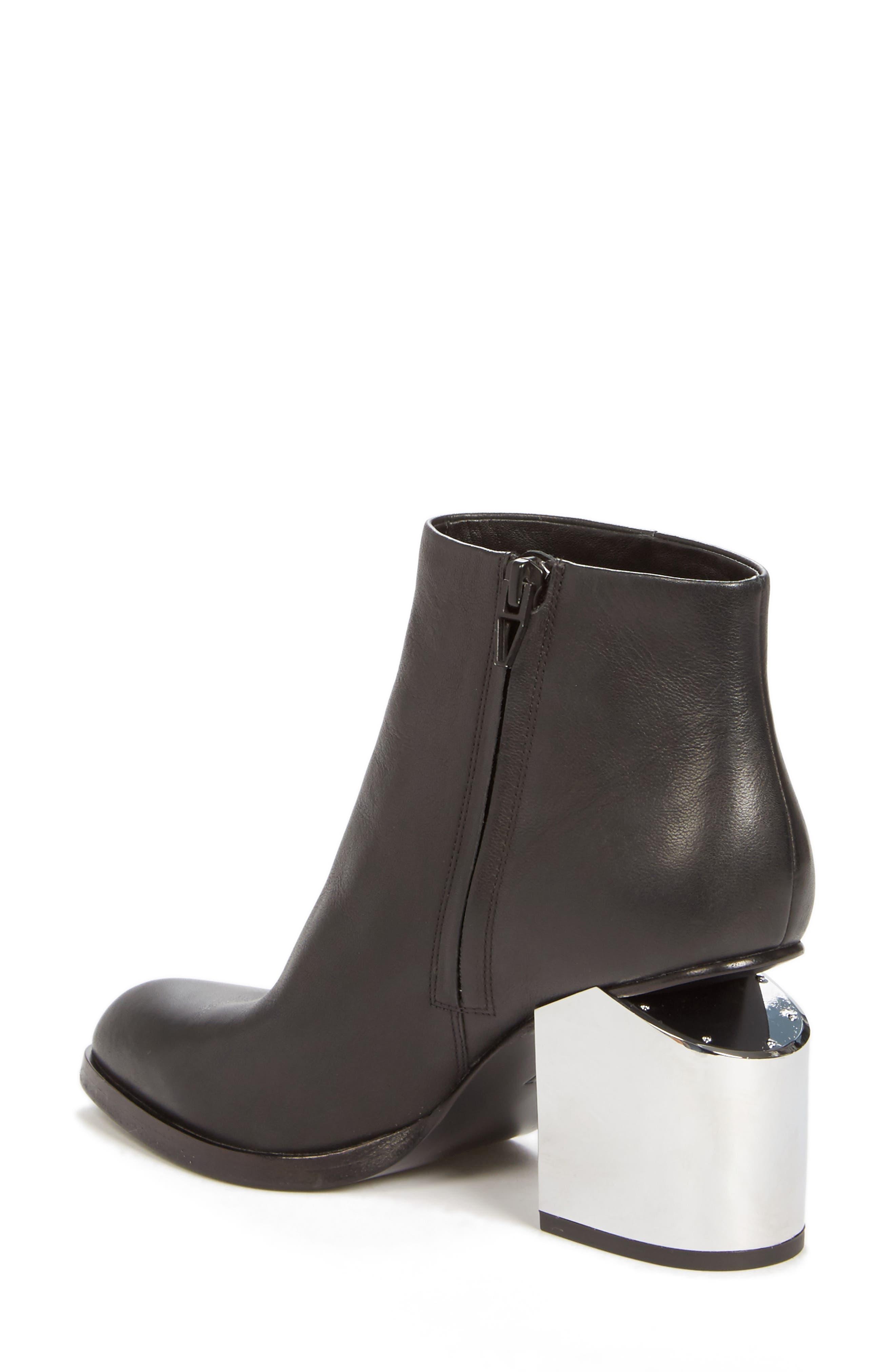 'Gabi' Silver Heel Bootie,                         Main,                         color, 001