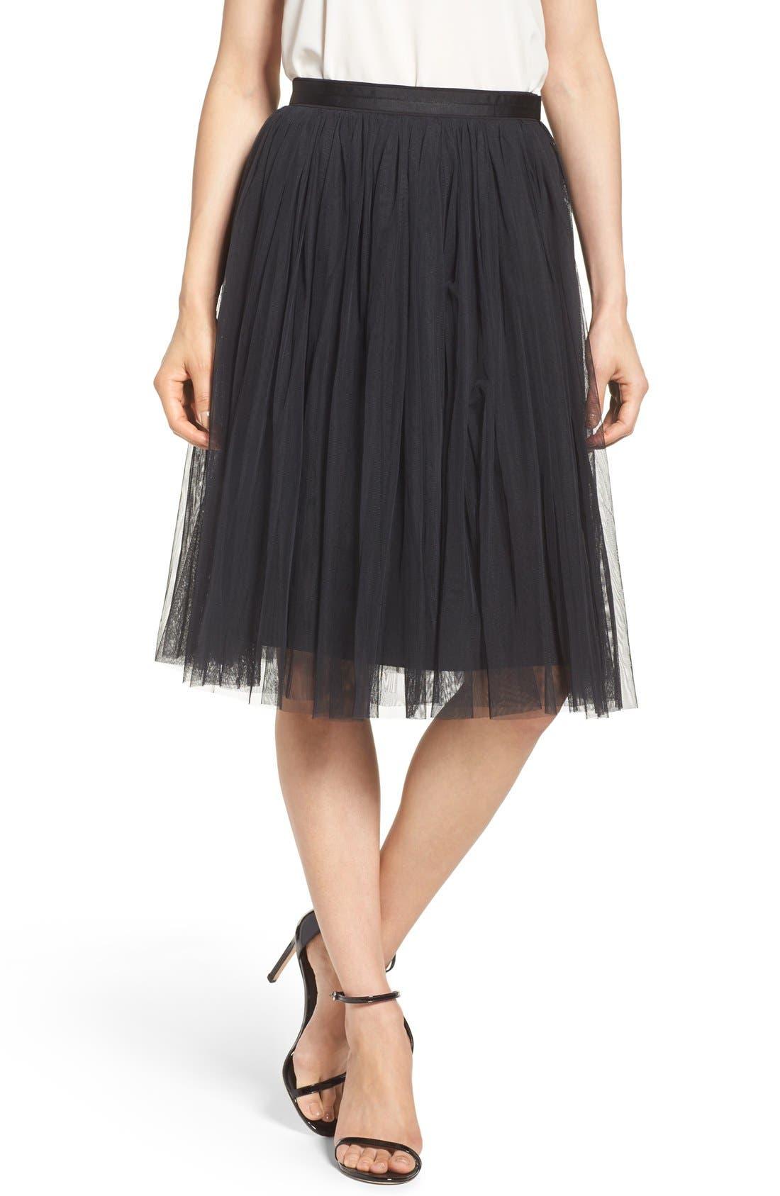 Tulle Skirt,                             Main thumbnail 1, color,                             001