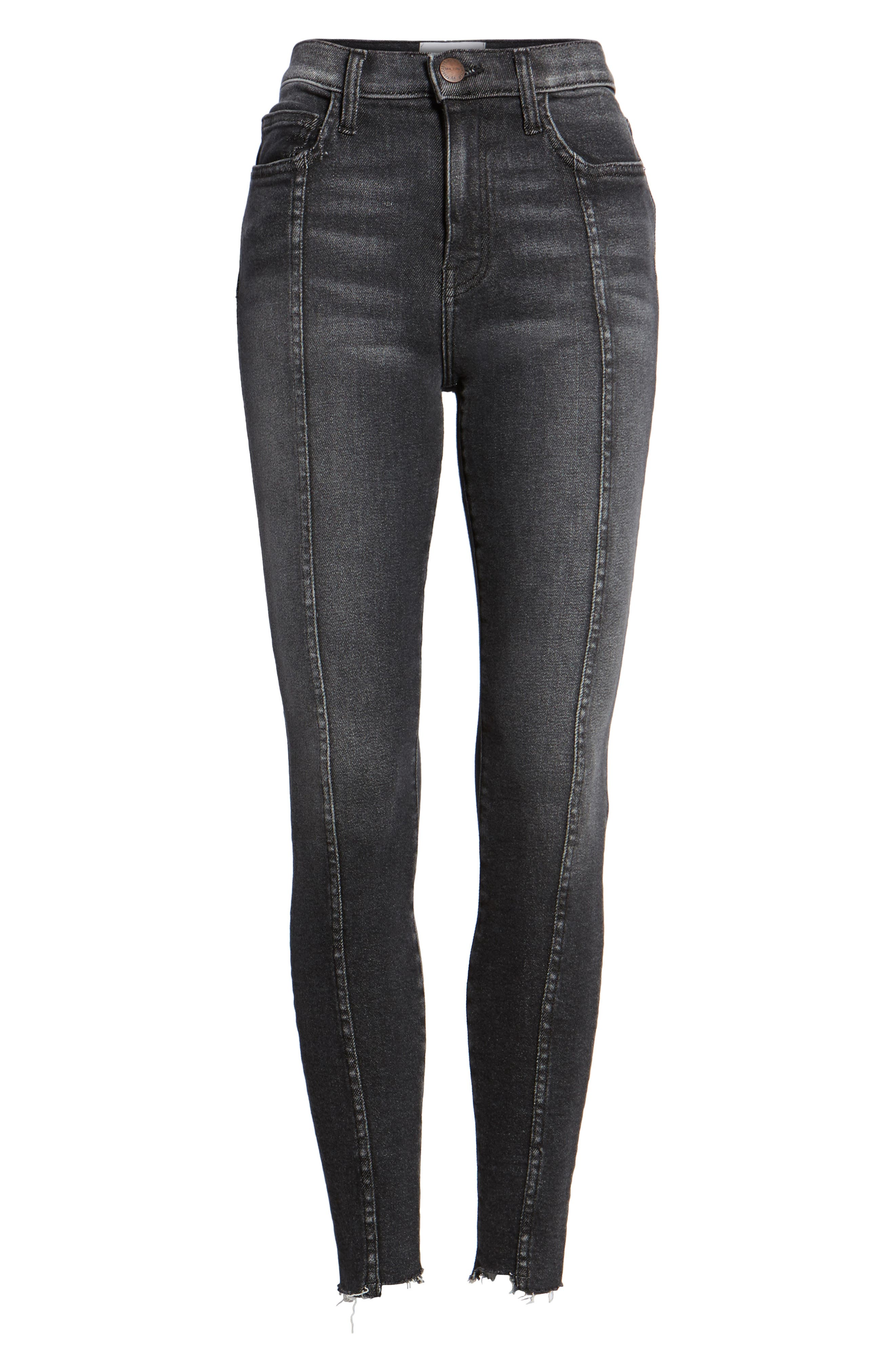The Ultra High Waist Ankle Skinny Jeans,                             Alternate thumbnail 7, color,                             007