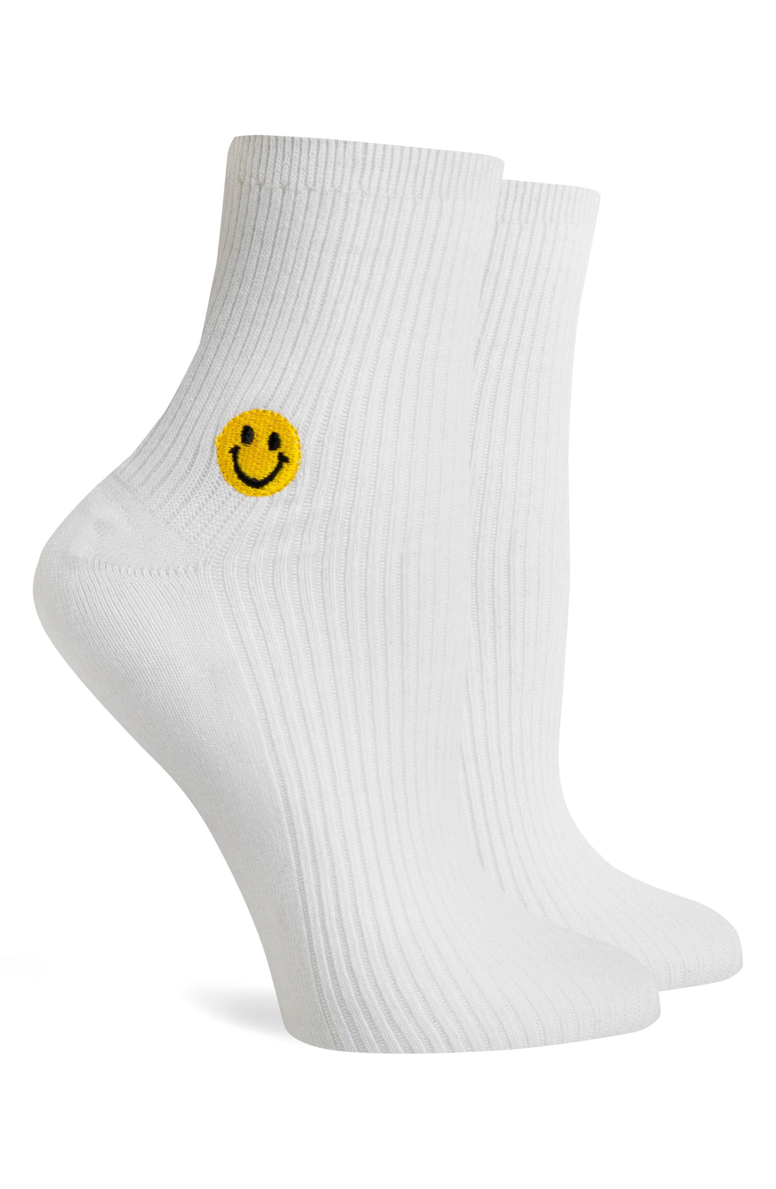 Smiles Ankle Socks,                             Alternate thumbnail 2, color,