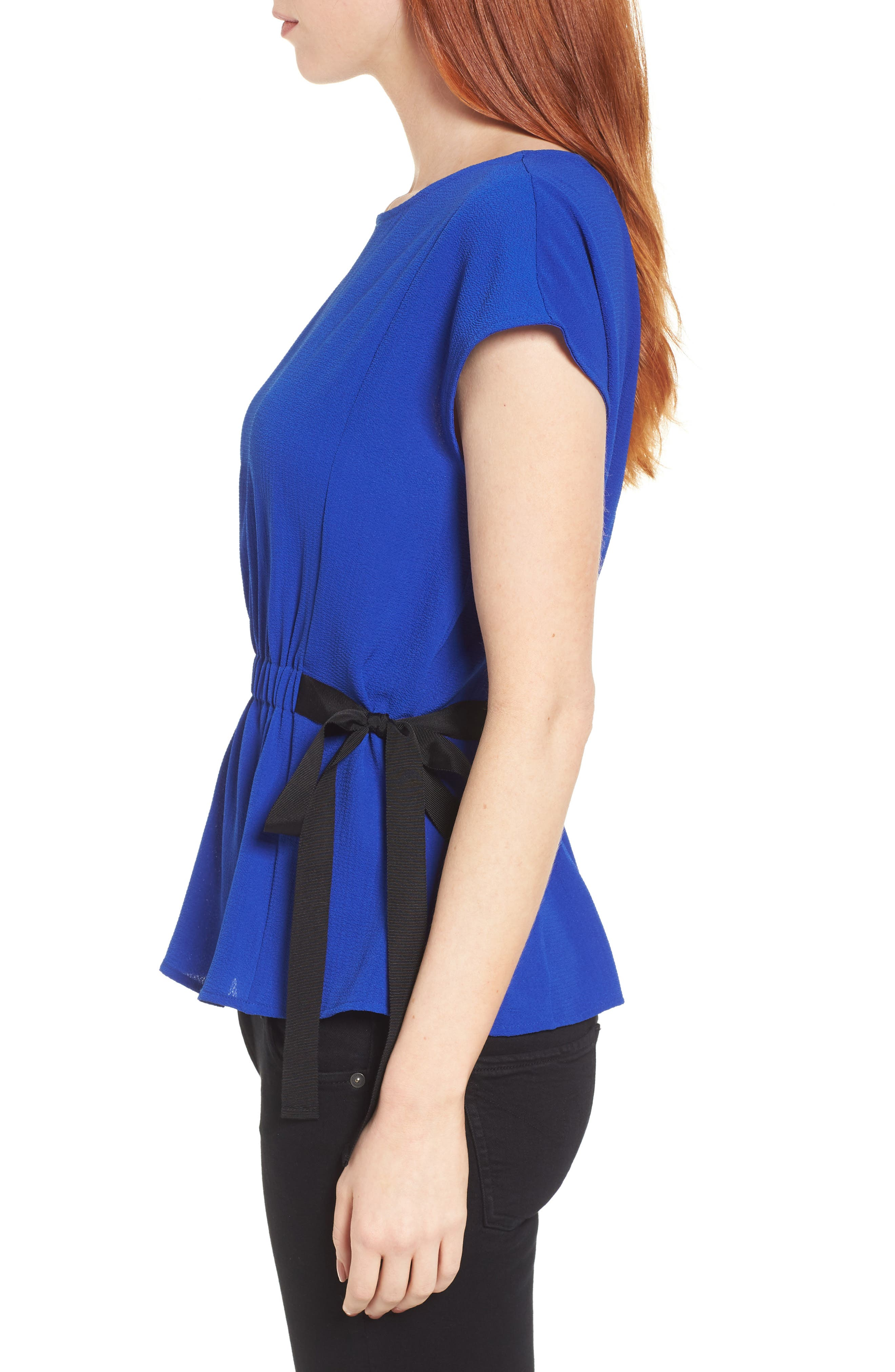 Gathered Waist Side Tie Top,                             Alternate thumbnail 16, color,
