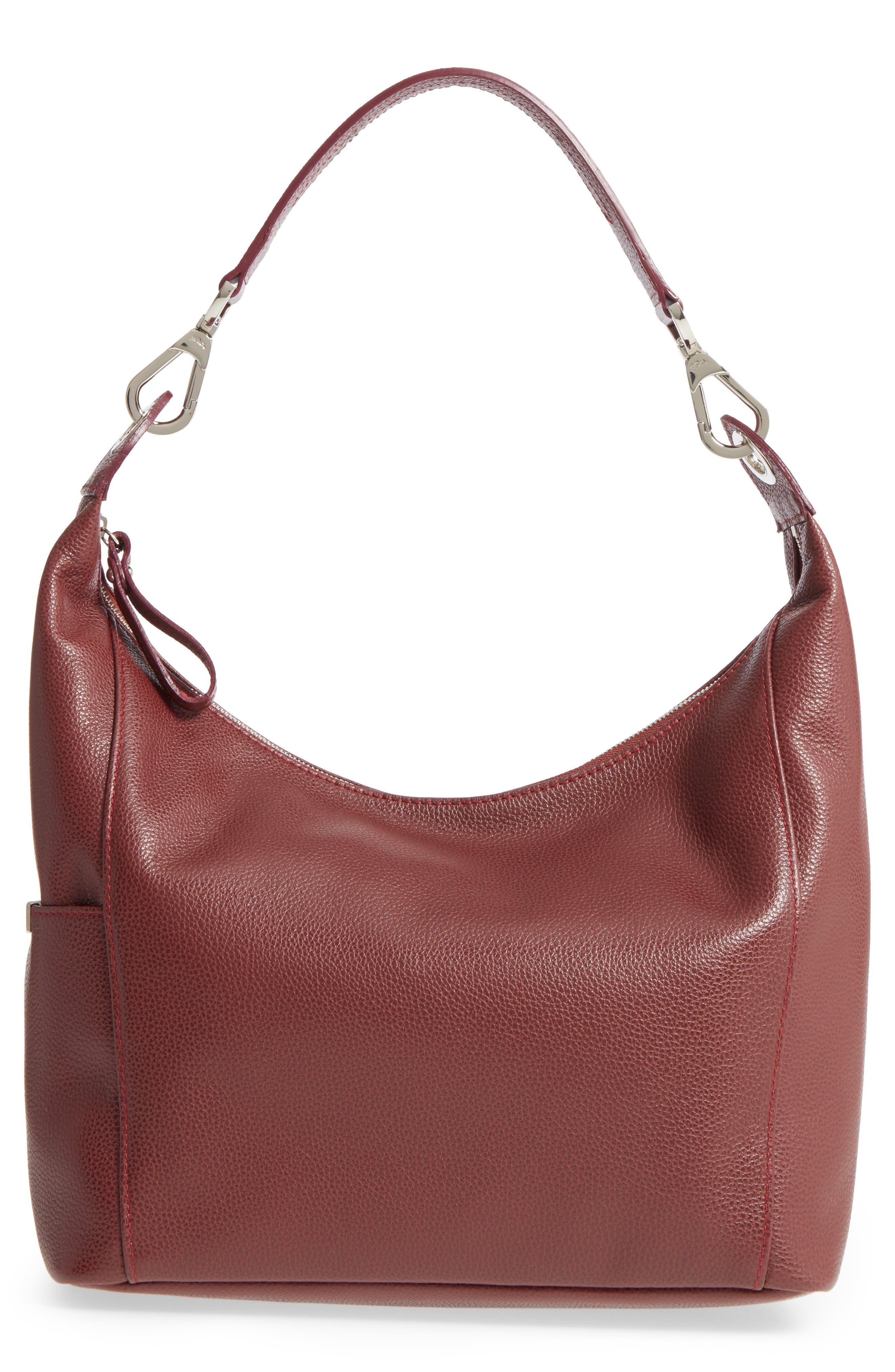 'Le Foulonne' Leather Hobo Bag,                             Main thumbnail 1, color,                             618
