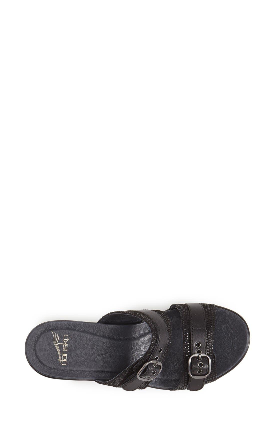 'Jessie' Double Strap Sandal,                             Alternate thumbnail 3, color,                             001