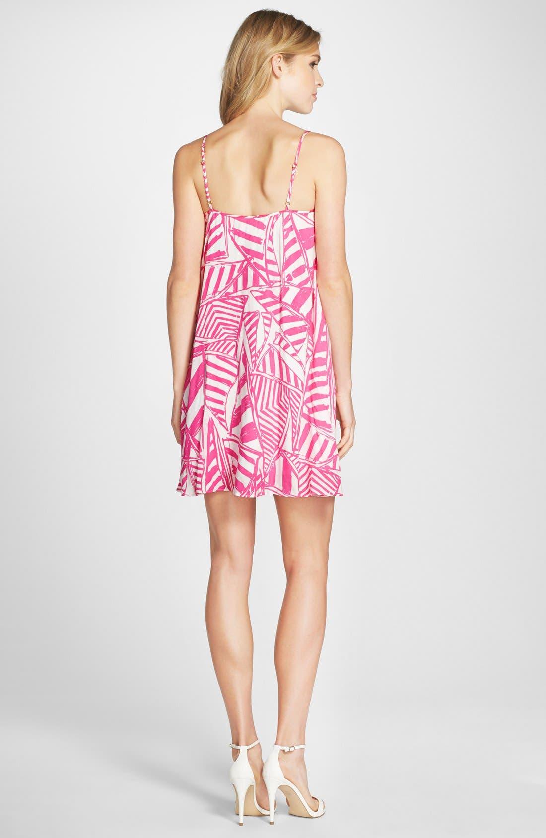 LILLY PULITZER<SUP>®</SUP>,                             'Daphne' Print Trapeze Dress,                             Alternate thumbnail 3, color,                             659