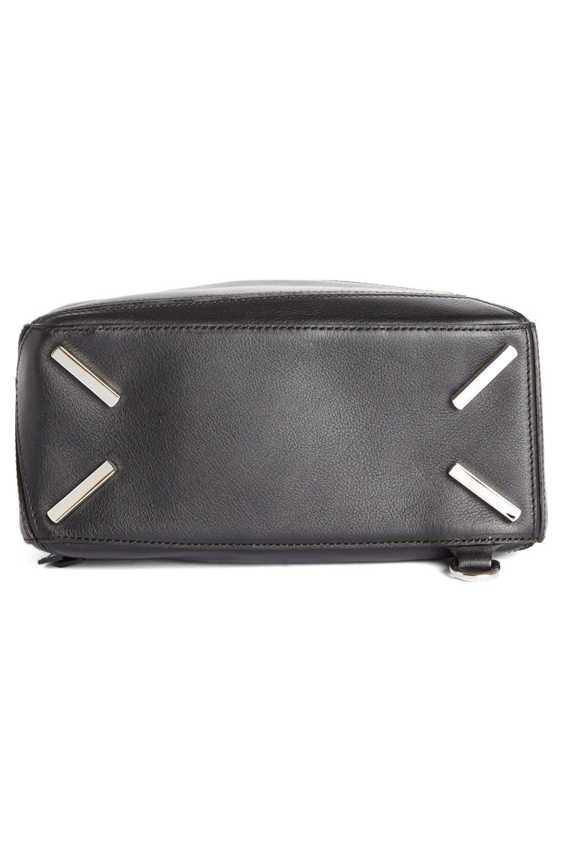 'Small Puzzle' Calfskin Leather Bag,                             Alternate thumbnail 4, color,                             001