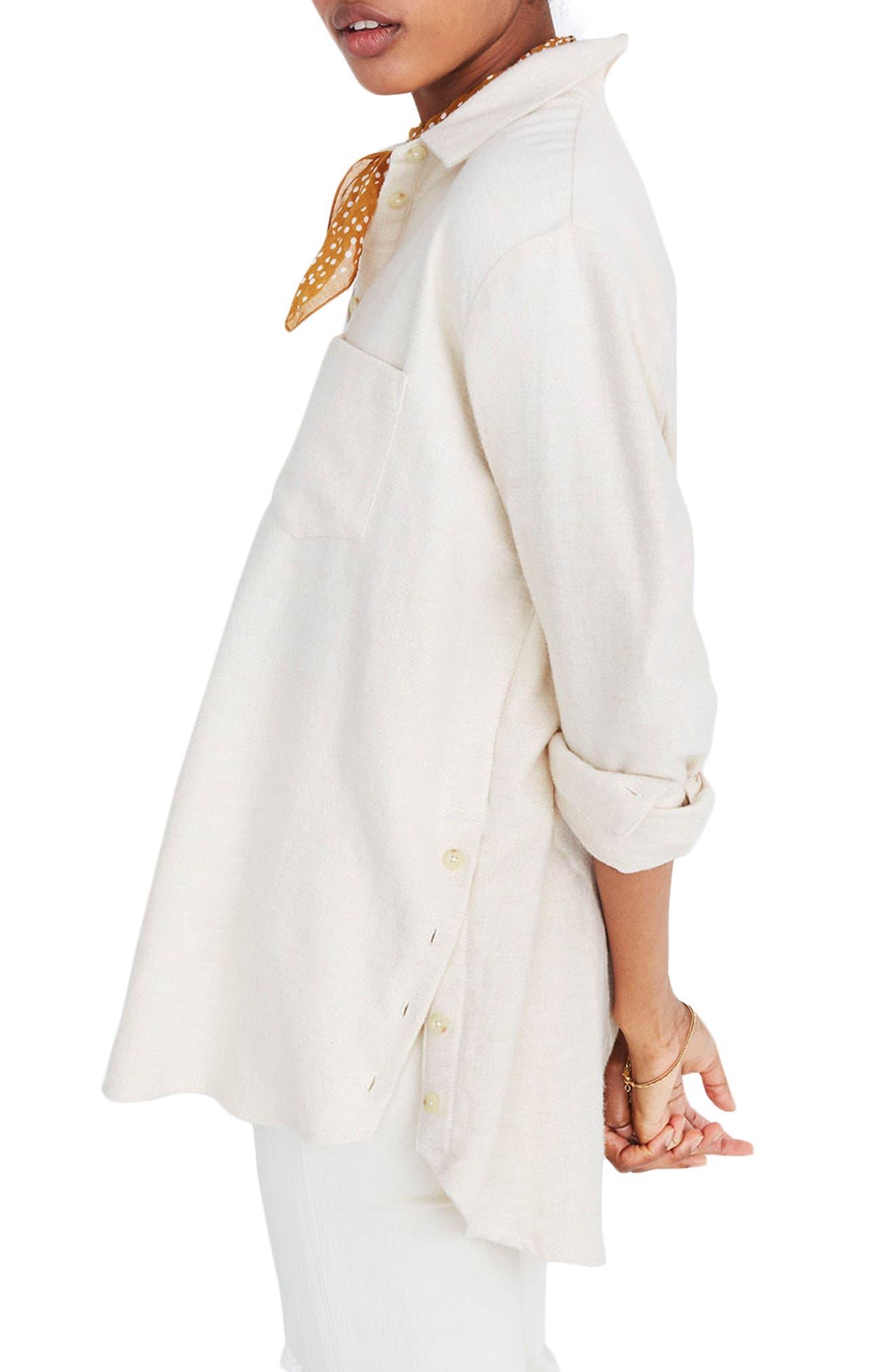 Ex-Boyfriend Side Button Flannel Shirt,                             Alternate thumbnail 3, color,                             250