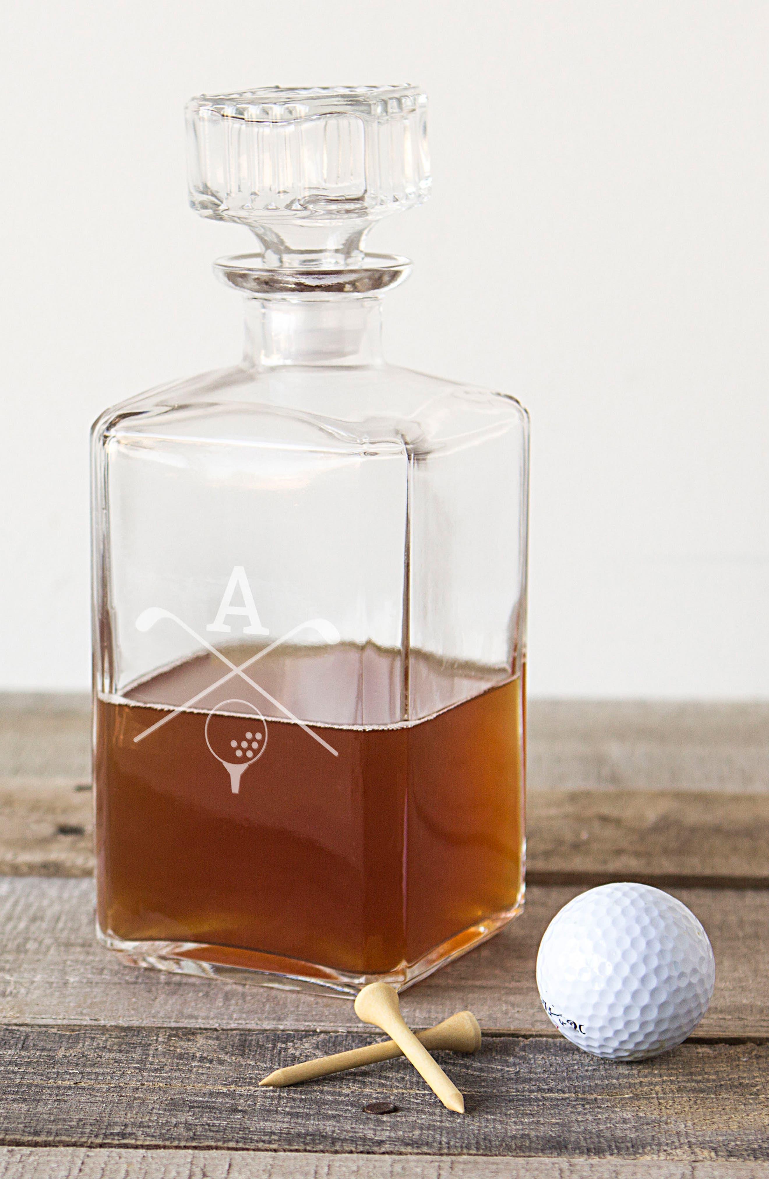 Monogrammed Golf Decanter,                             Alternate thumbnail 2, color,                             100