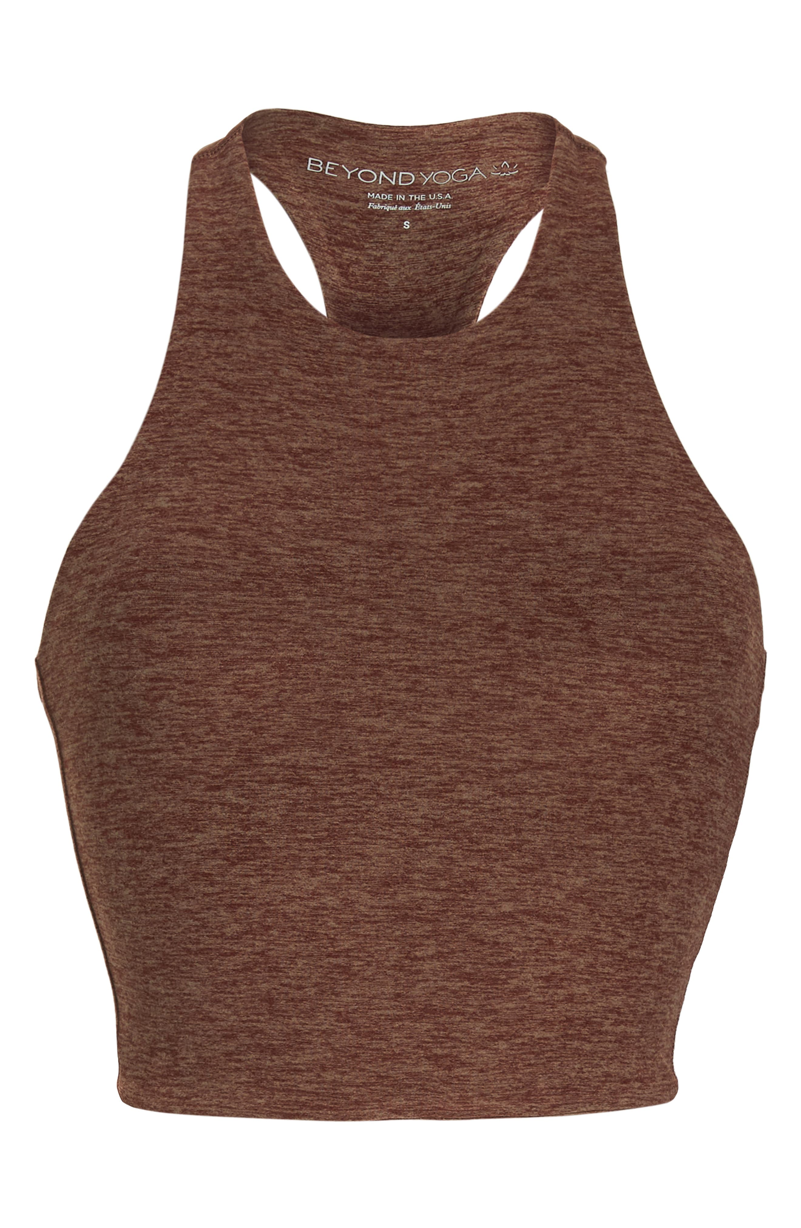 Across the Strap Cropped Top,                             Alternate thumbnail 7, color,                             RED ROCK/ TUMBLEWEED