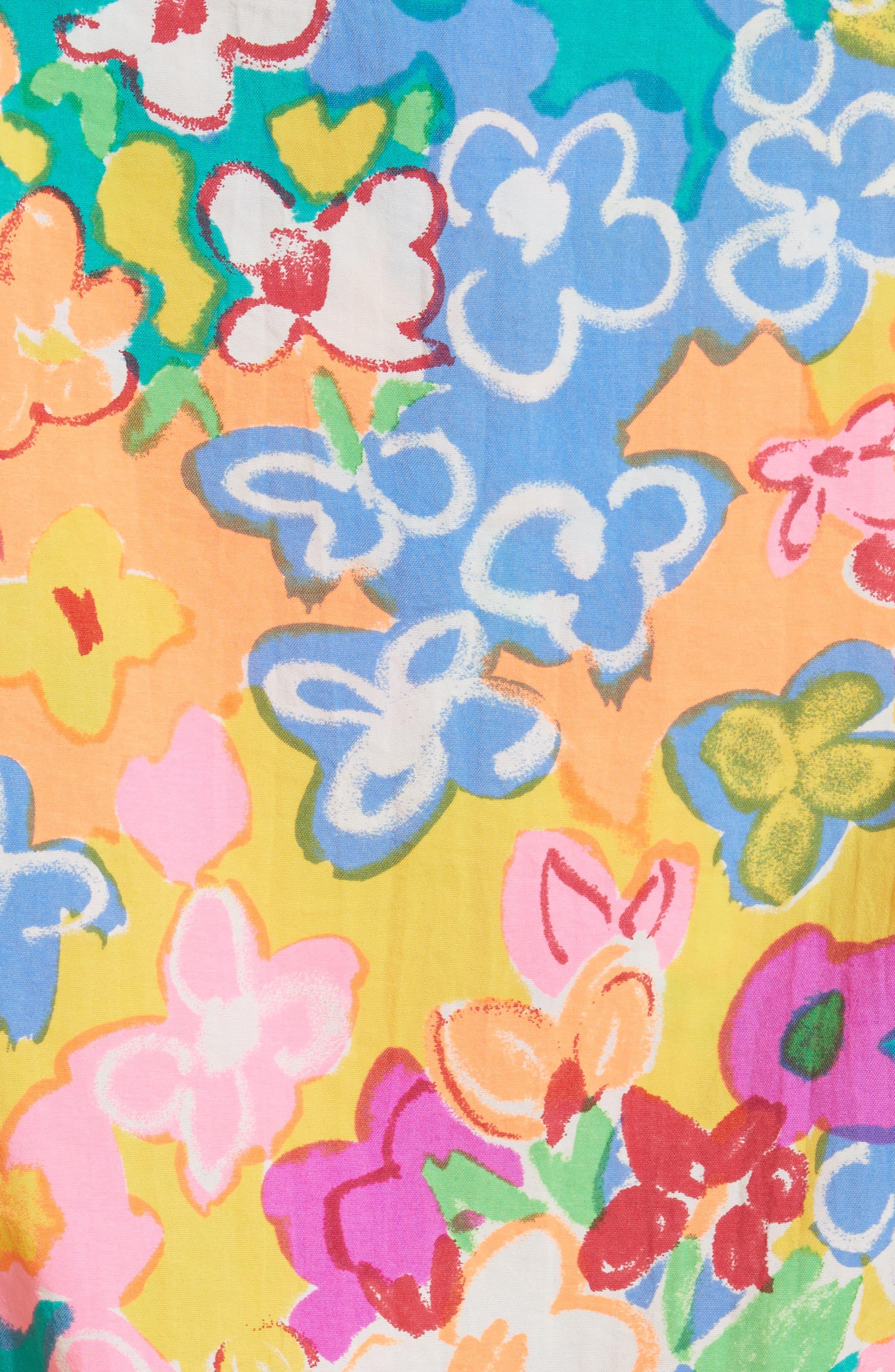 Pillow Floral Print Tank,                             Alternate thumbnail 5, color,