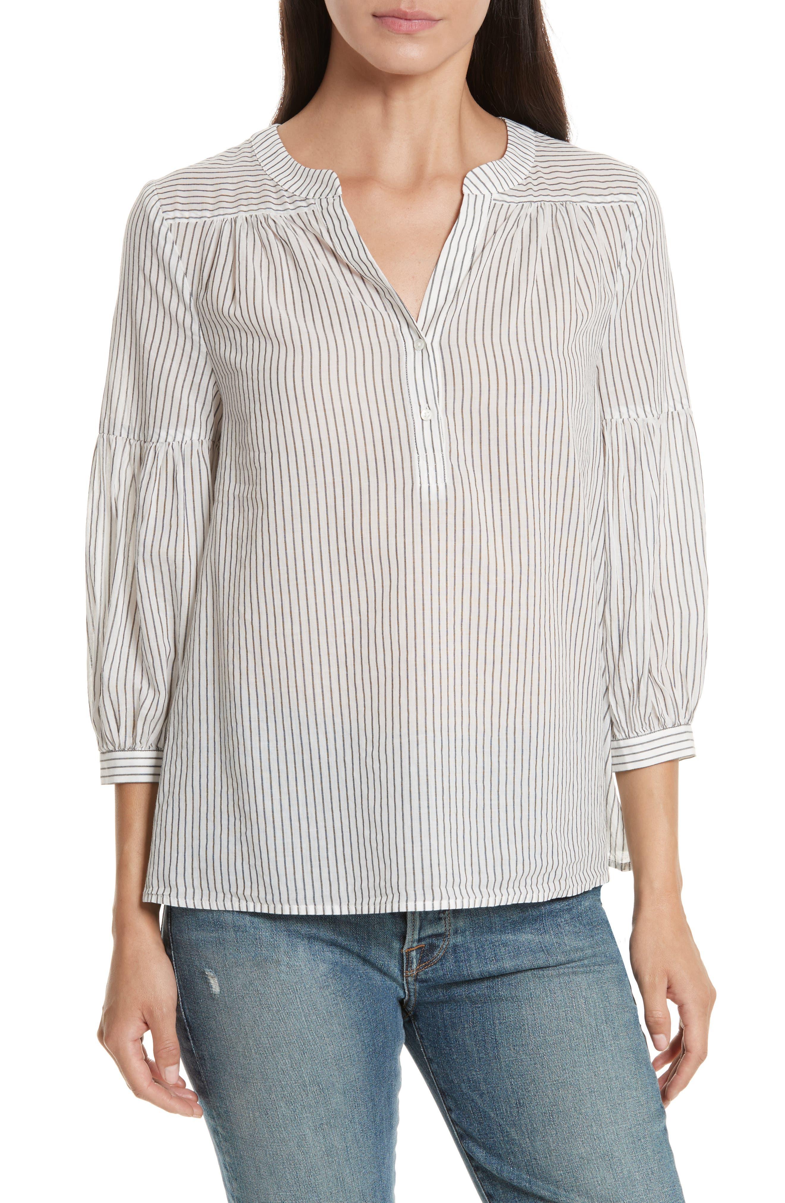 Aldys Stripe Cotton Top,                         Main,                         color, 114