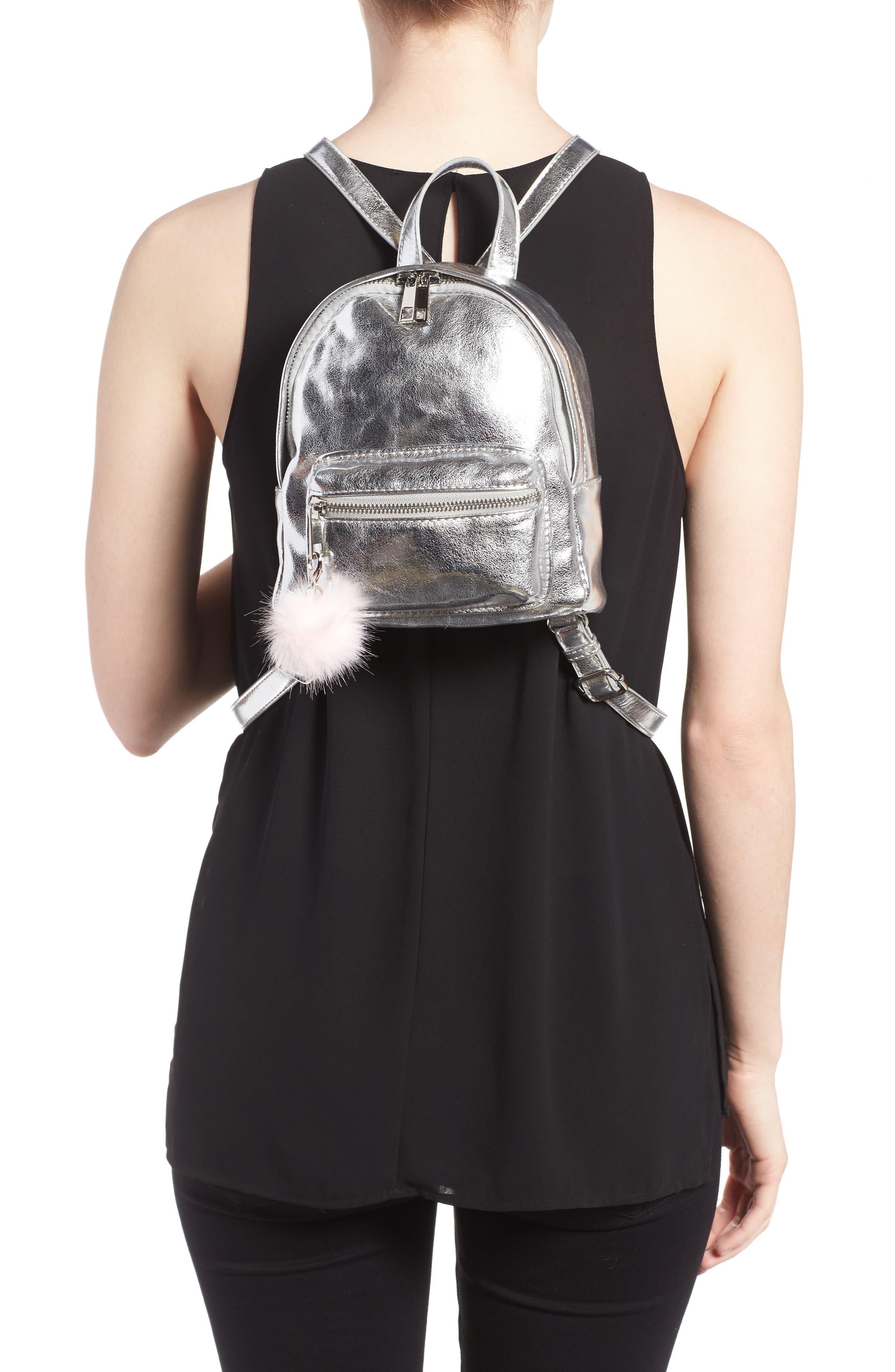 Faux Leather Mini Backpack,                             Alternate thumbnail 14, color,