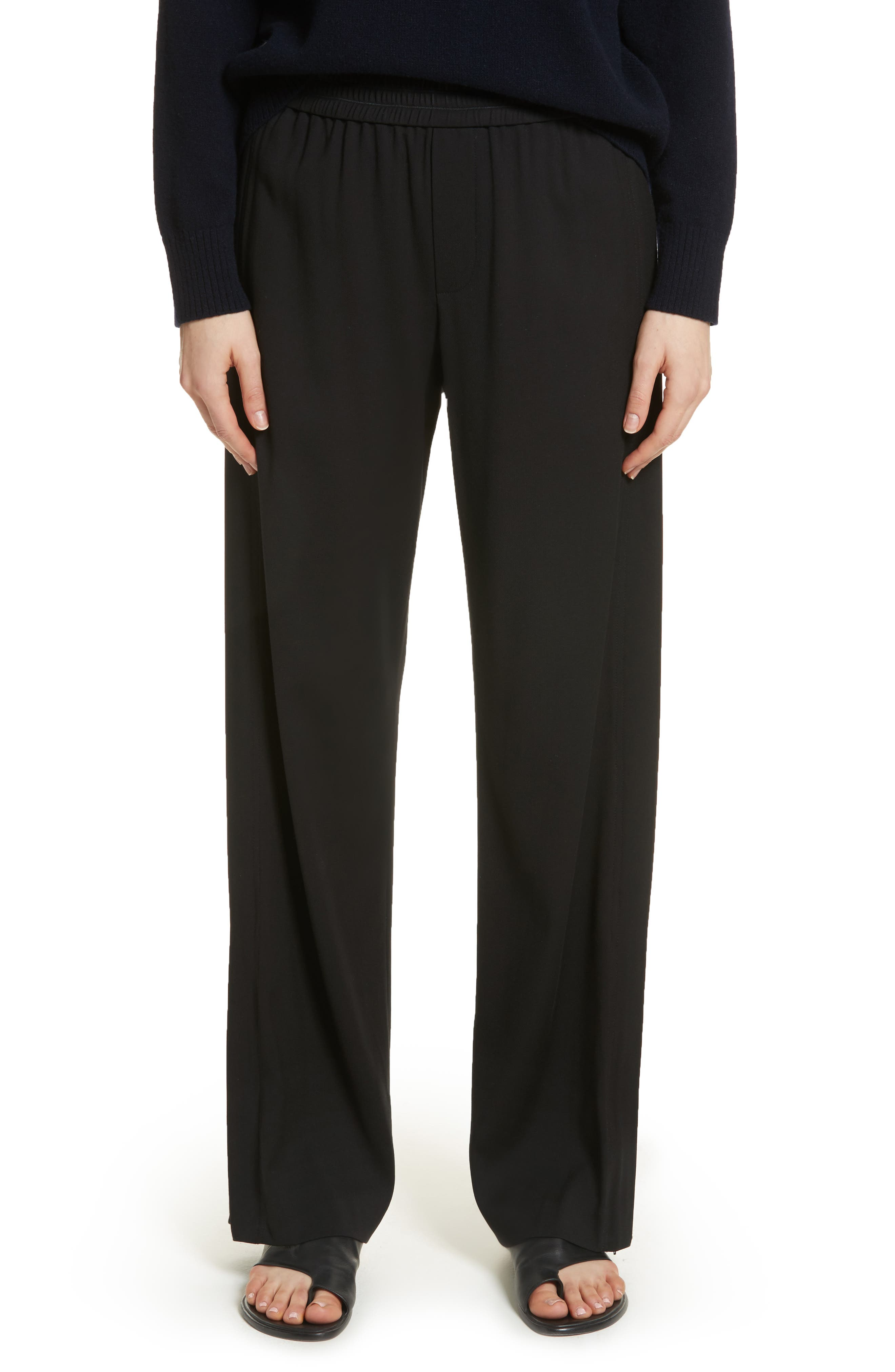 Ankle Zip Wide Leg Pants,                         Main,                         color, 001
