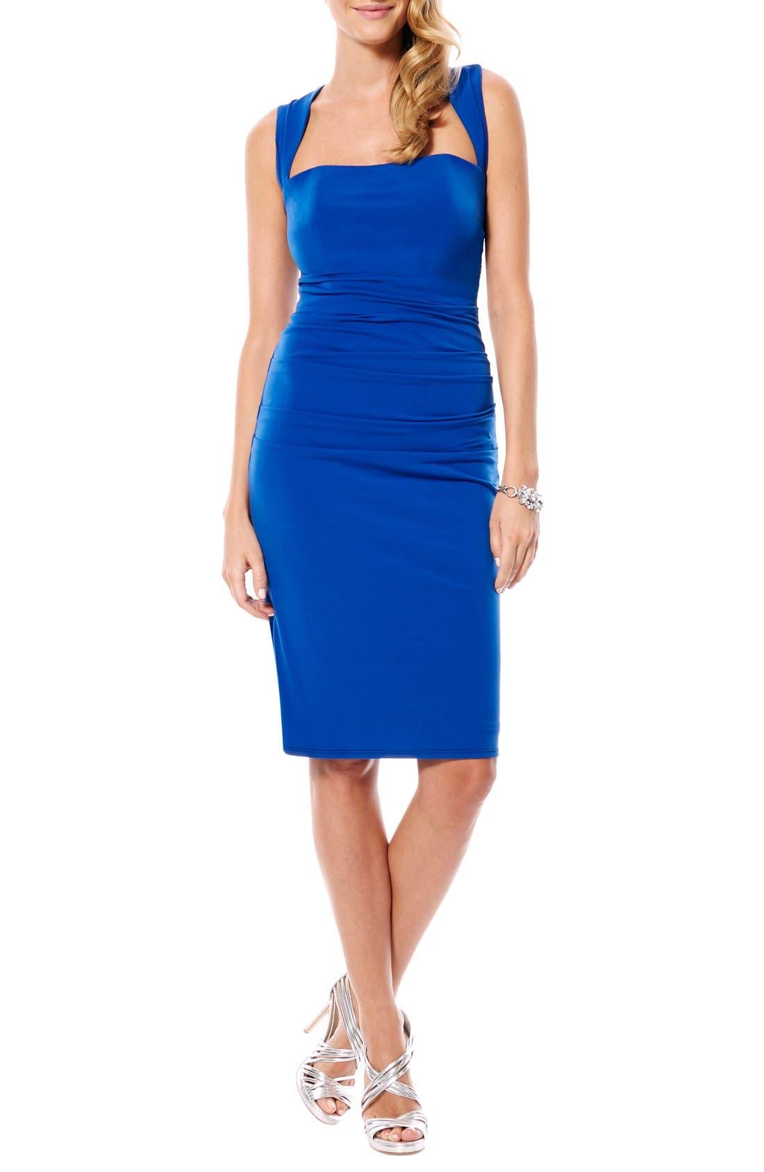 Twist Back Jersey Body-Con Dress,                             Main thumbnail 2, color,