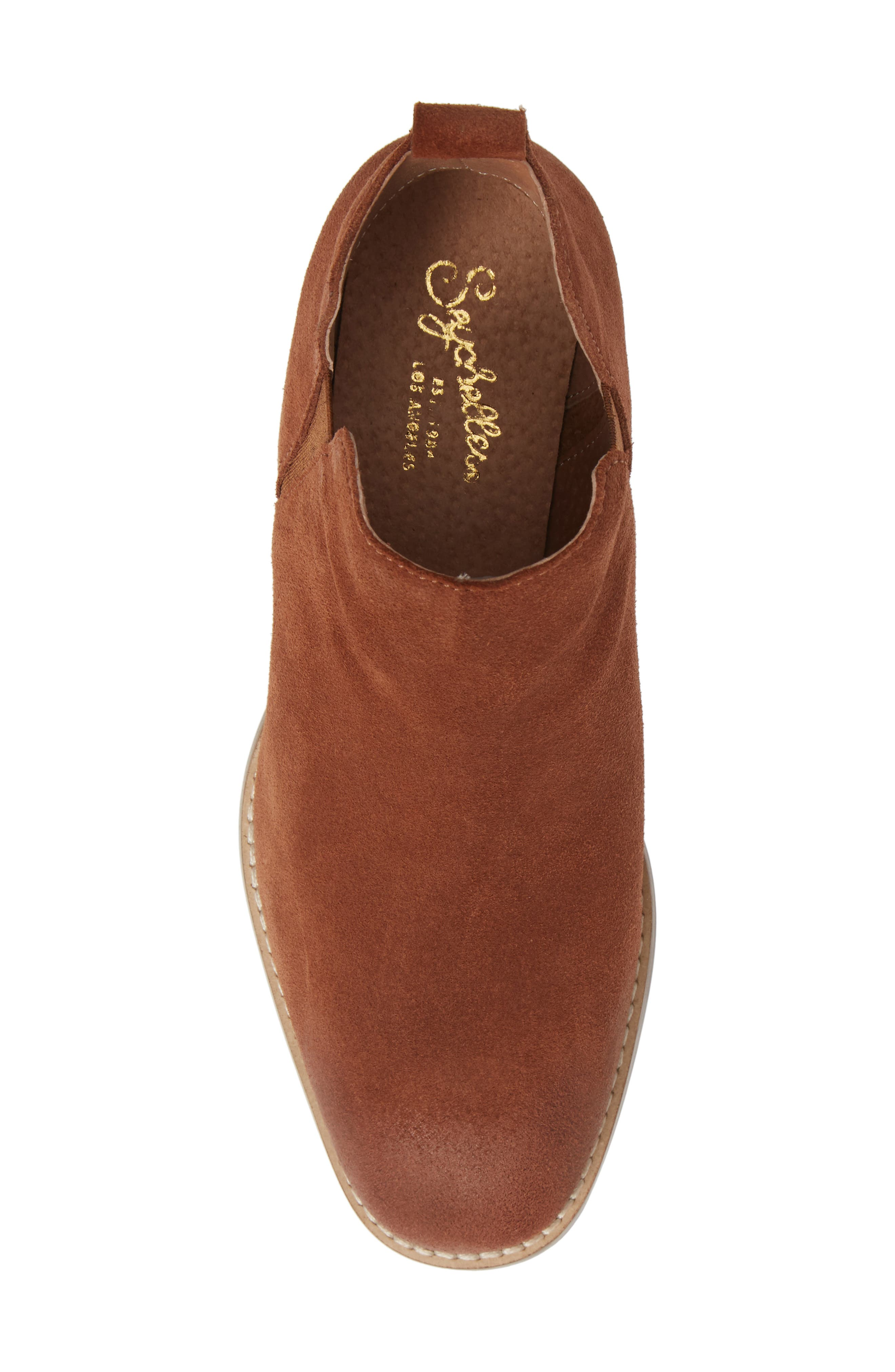 Offstage Boot,                             Alternate thumbnail 5, color,                             COGNAC SUEDE