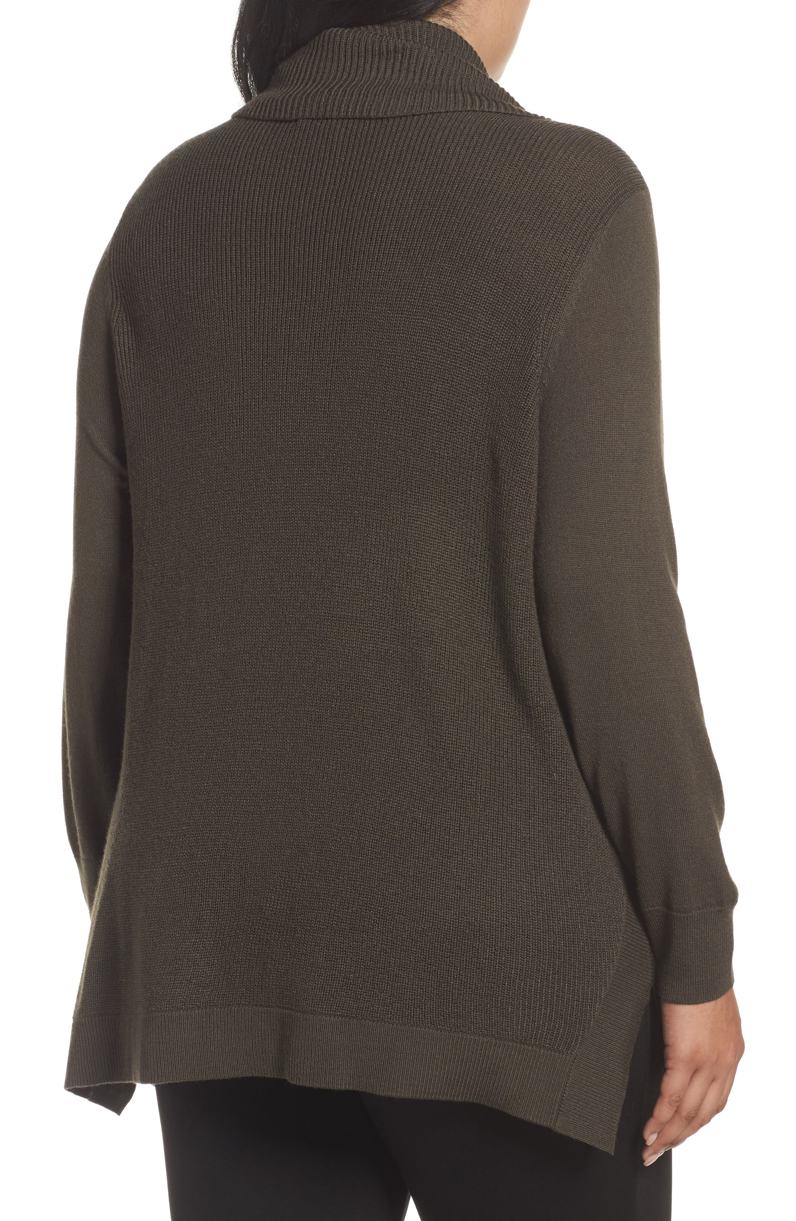 Cowl Neck Ribbed Trim Pullover,                             Alternate thumbnail 9, color,