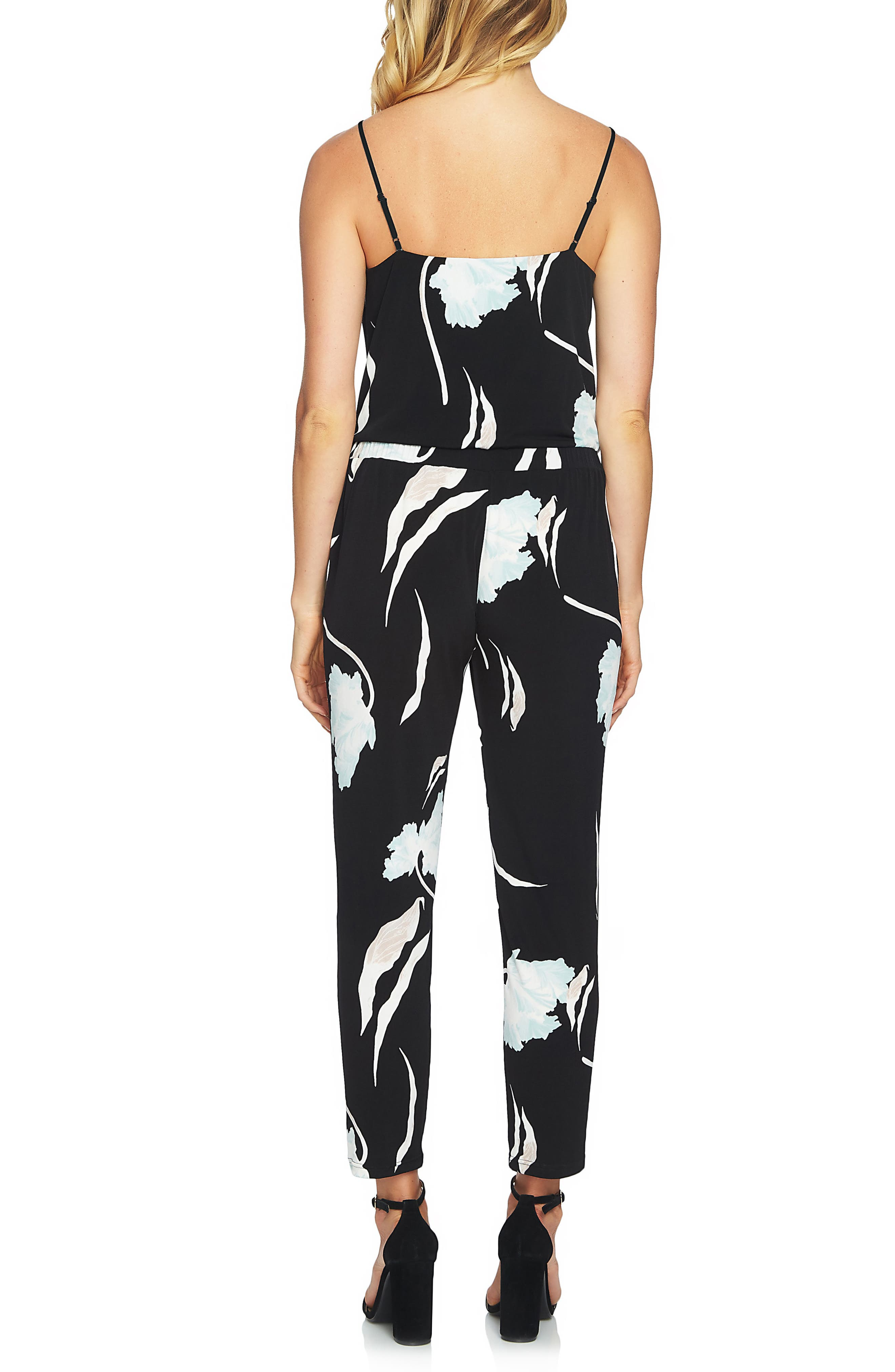 Floral Ankle Jumpsuit,                             Alternate thumbnail 2, color,                             327