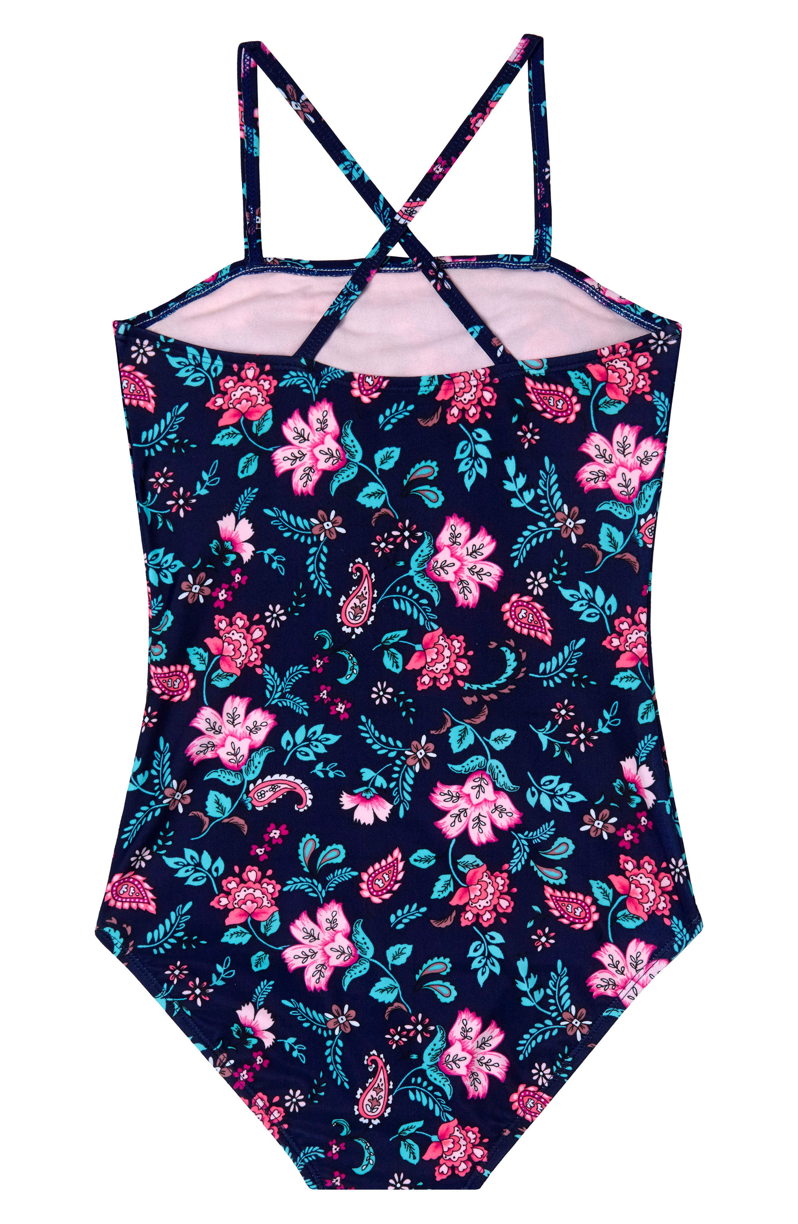 Floral Field One-Piece Swimsuit,                             Alternate thumbnail 2, color,                             406