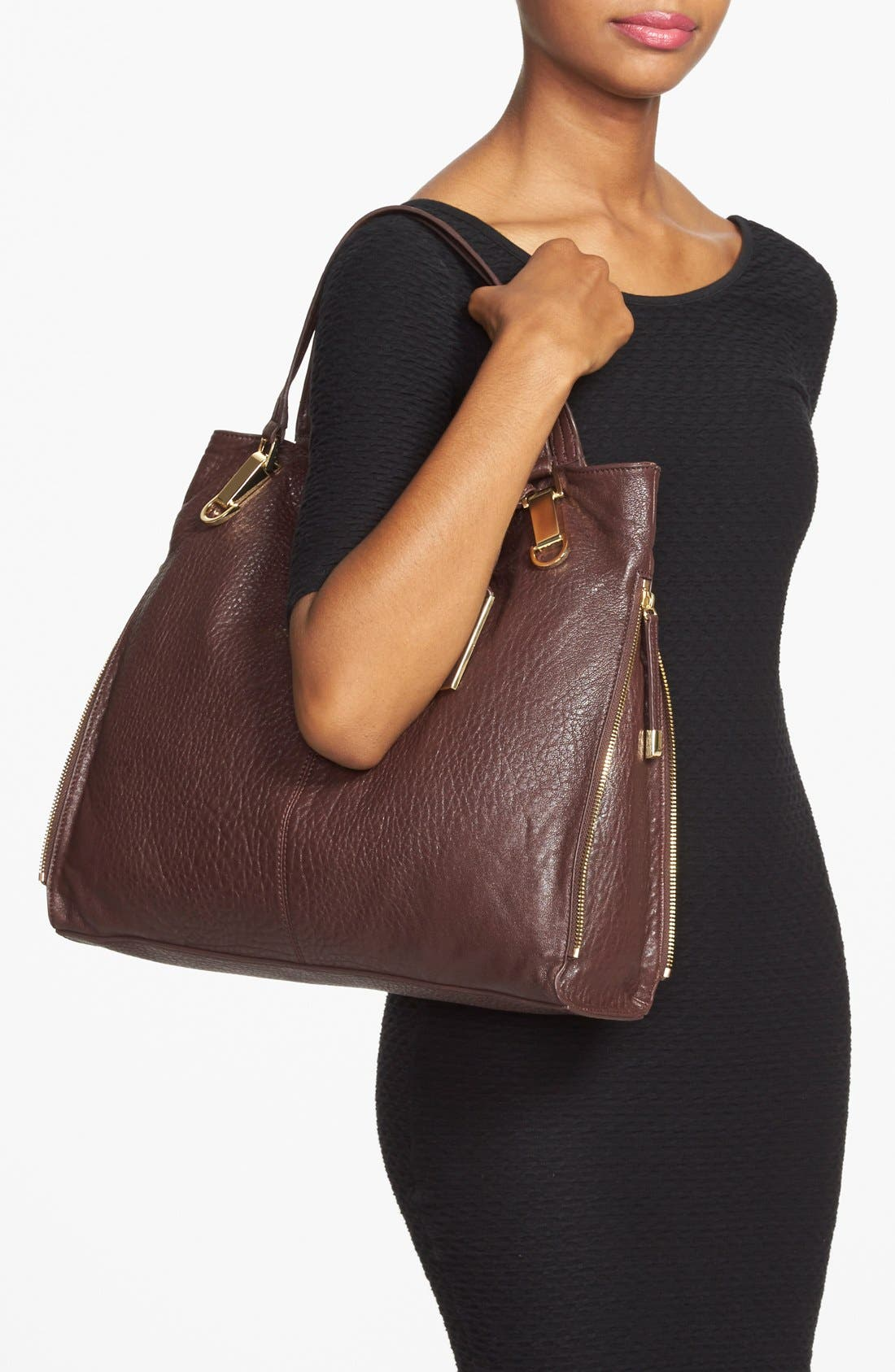'Riley' Leather Tote,                             Alternate thumbnail 45, color,