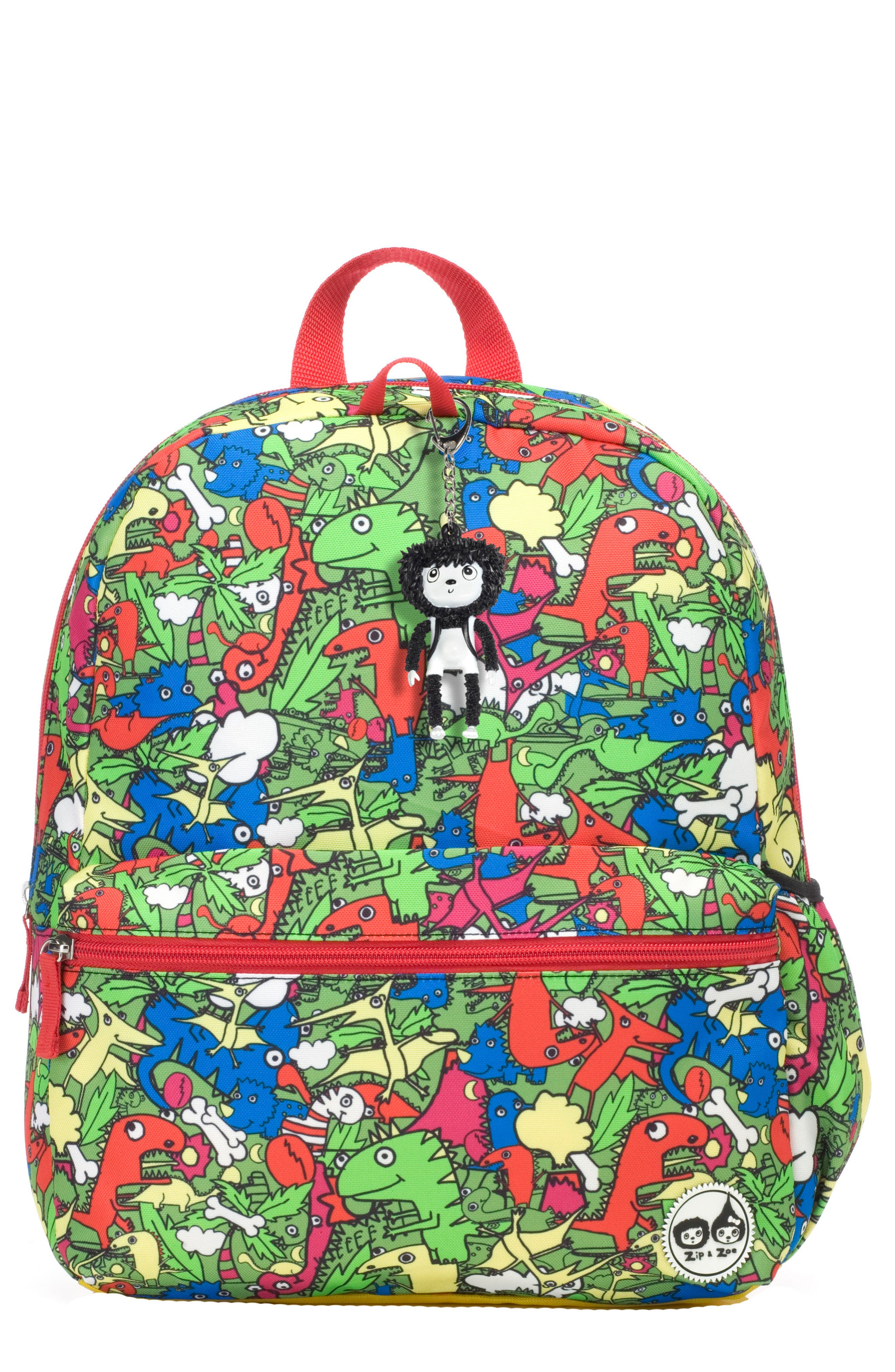 Zip & Zoe Dino Junior Backpack,                             Main thumbnail 1, color,                             DINO