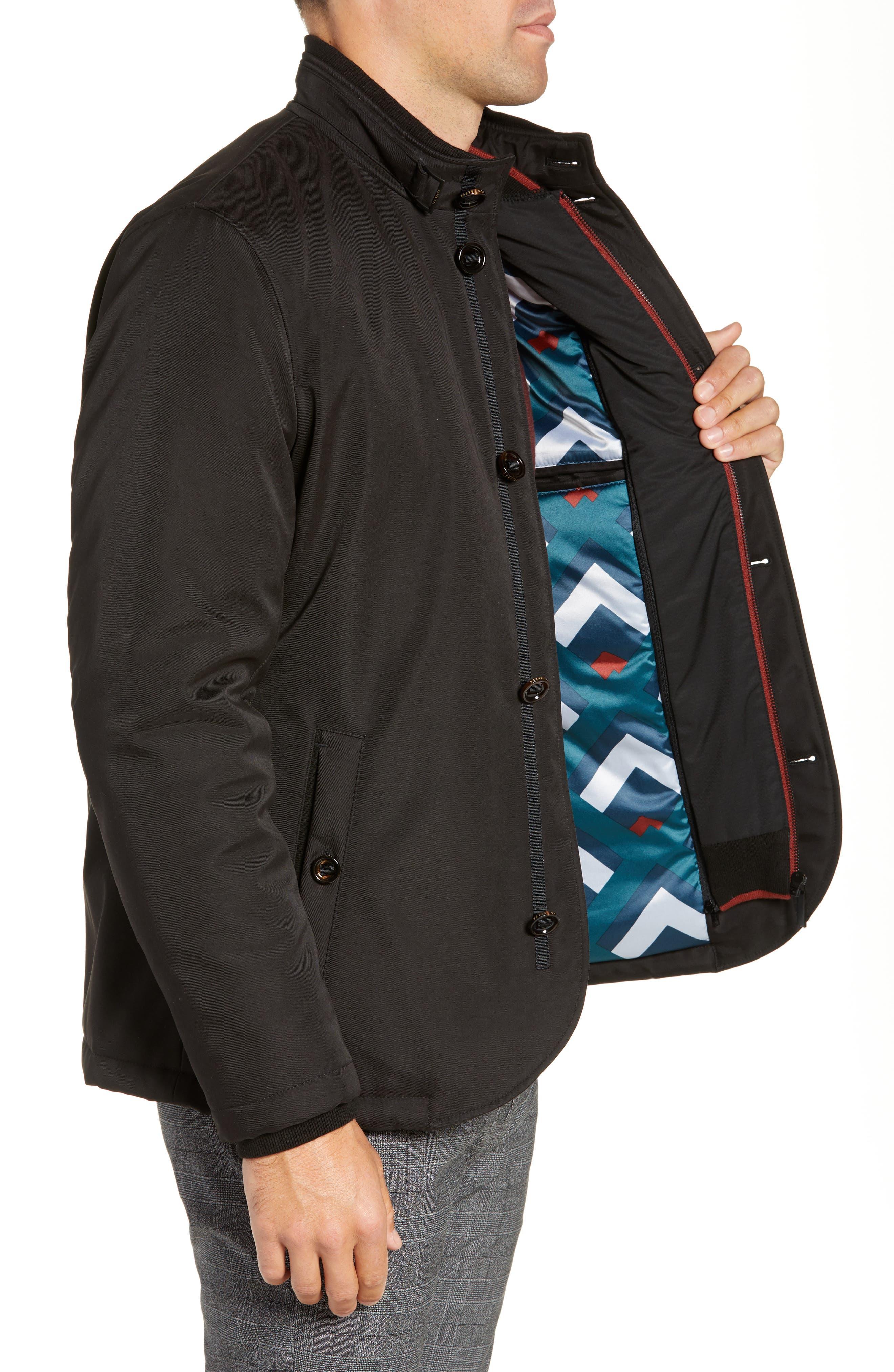 Dral Slim Fit Bib Layer Jacket,                             Alternate thumbnail 3, color,                             BLACK