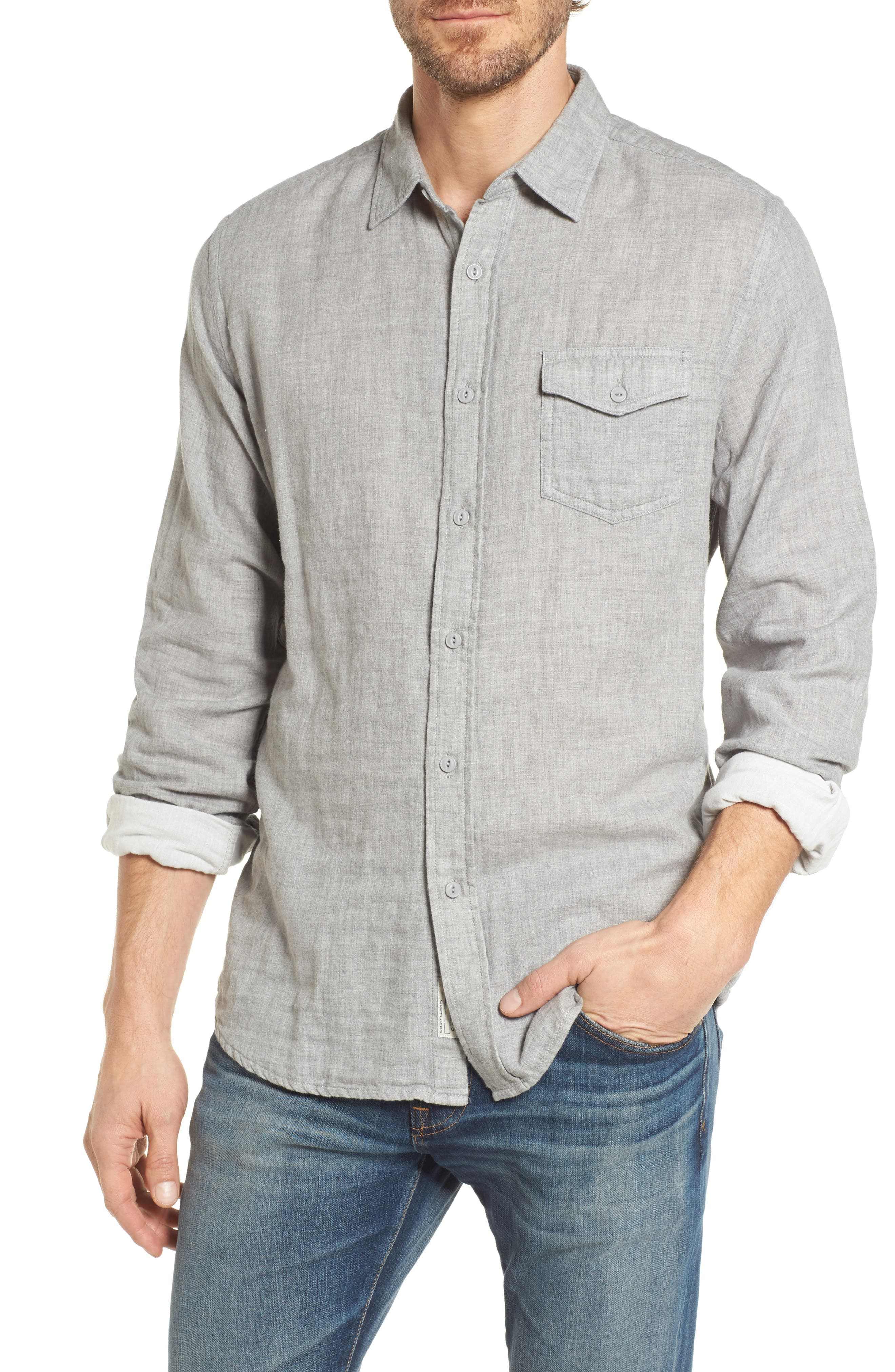Hartford Double Cloth Sport Shirt,                         Main,                         color,