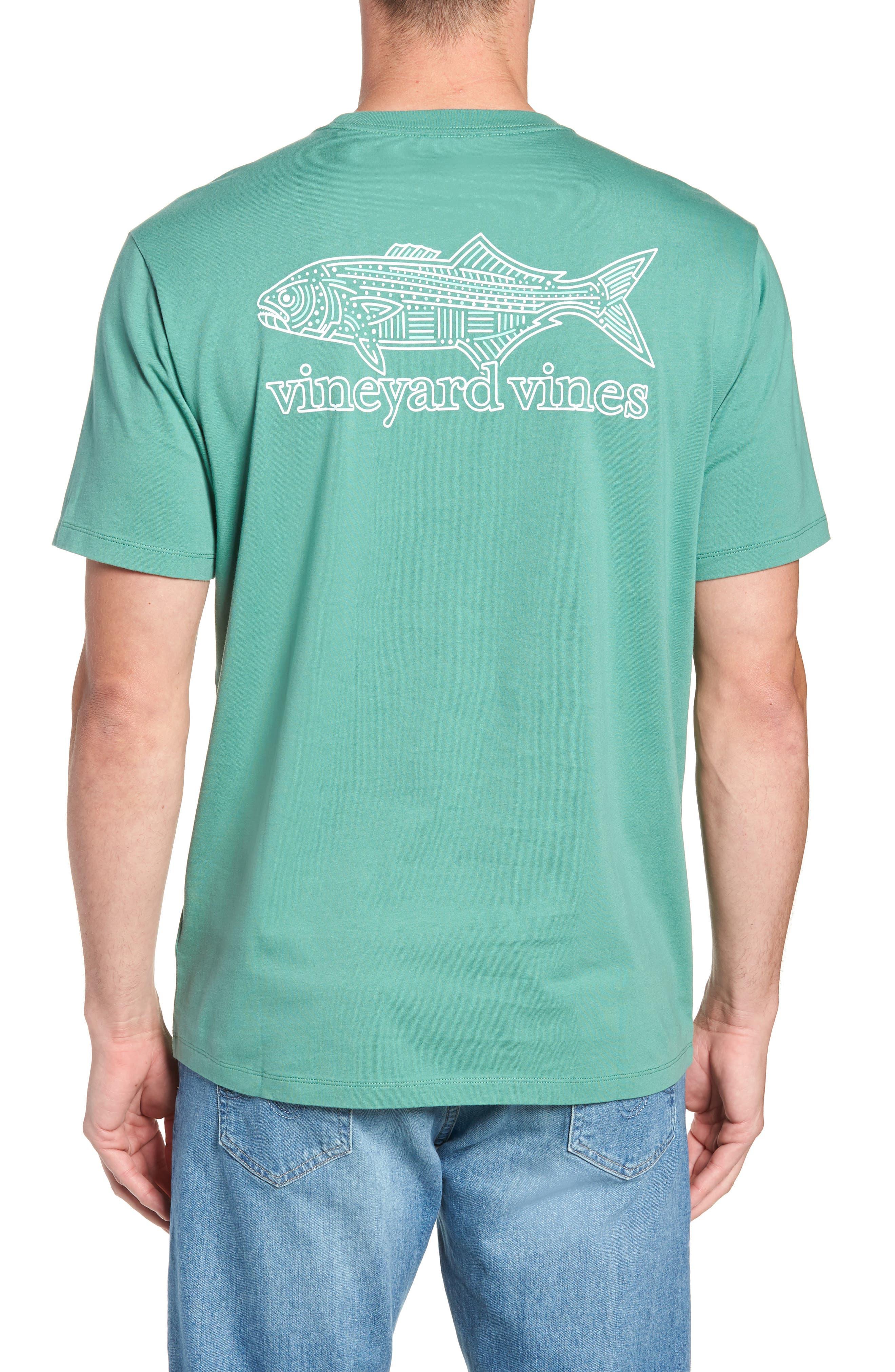 Linear Bluefish Pocket T-Shirt,                             Alternate thumbnail 2, color,                             324
