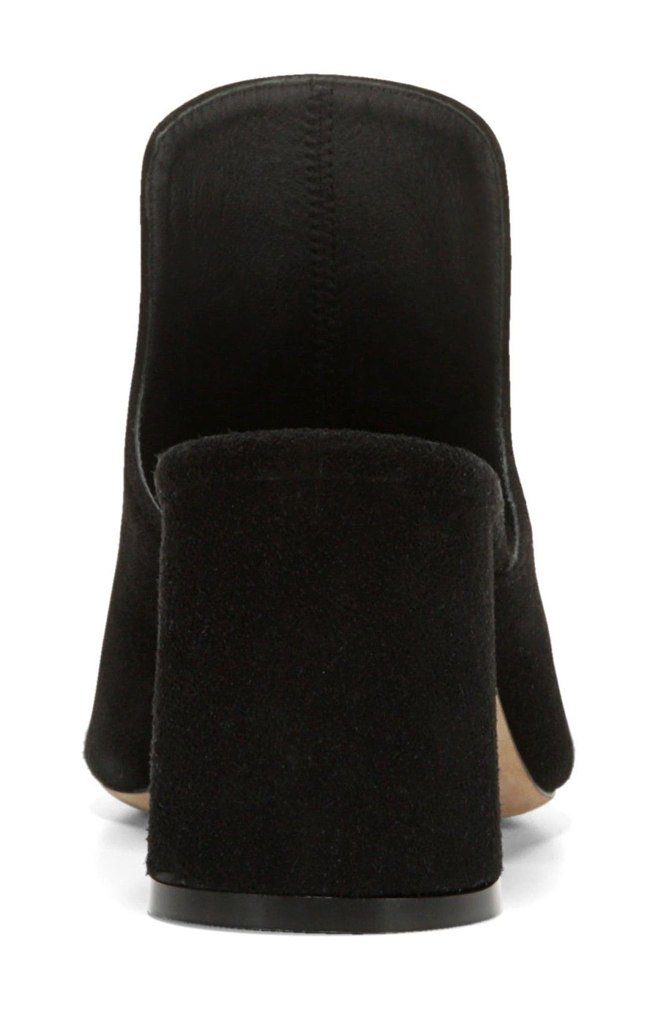 Tanay Loafer Mule,                             Alternate thumbnail 7, color,                             BLACK SUEDE LEATHER