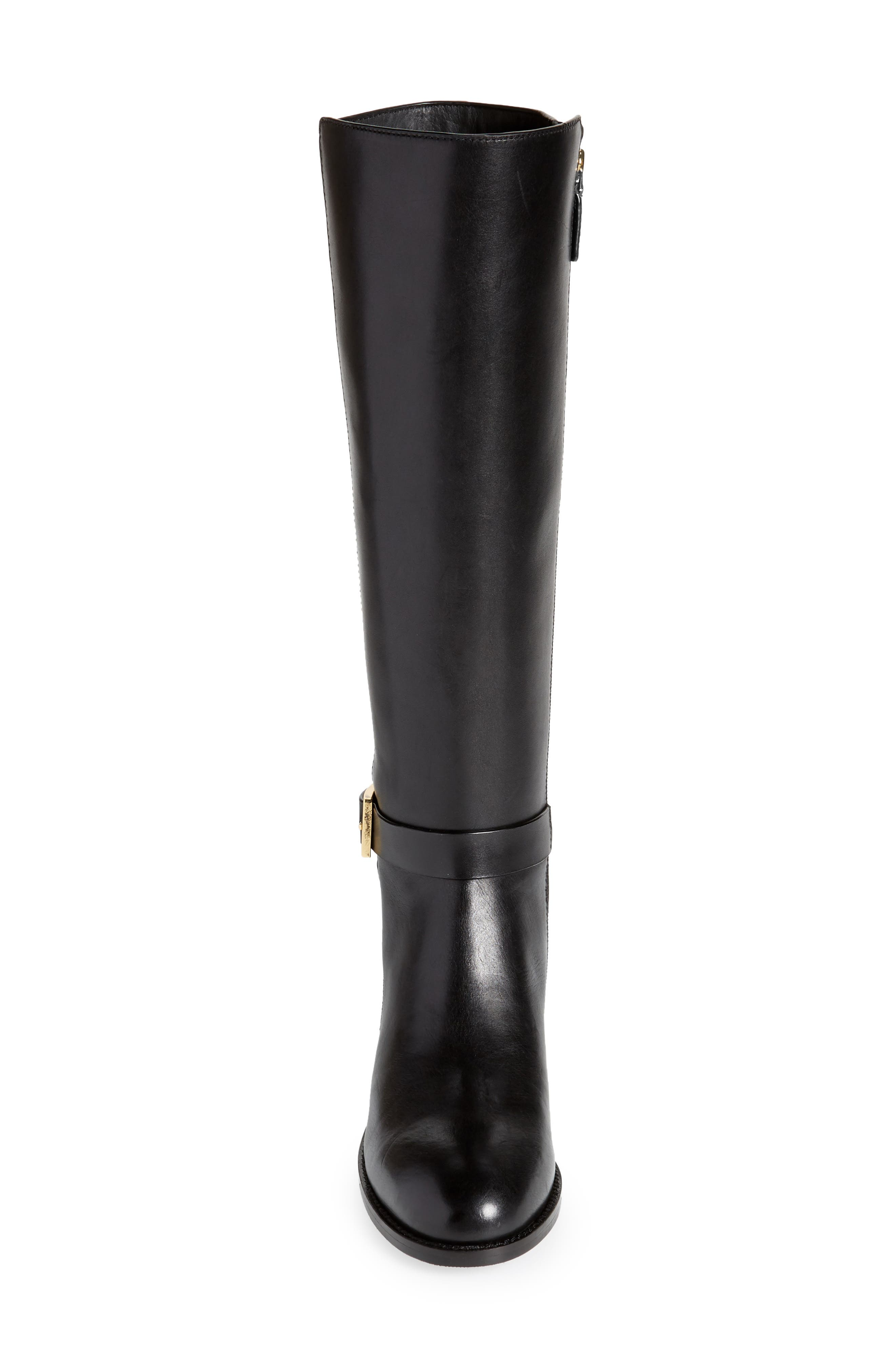 Brooke Knee High Boot,                             Alternate thumbnail 4, color,                             PERFECT BLACK