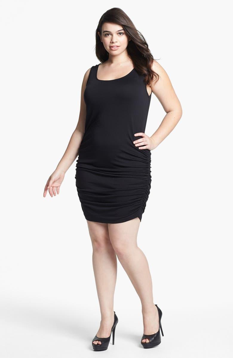c01c4e68645 Olivia Moon Side Ruched Tank Dress (Plus Size)