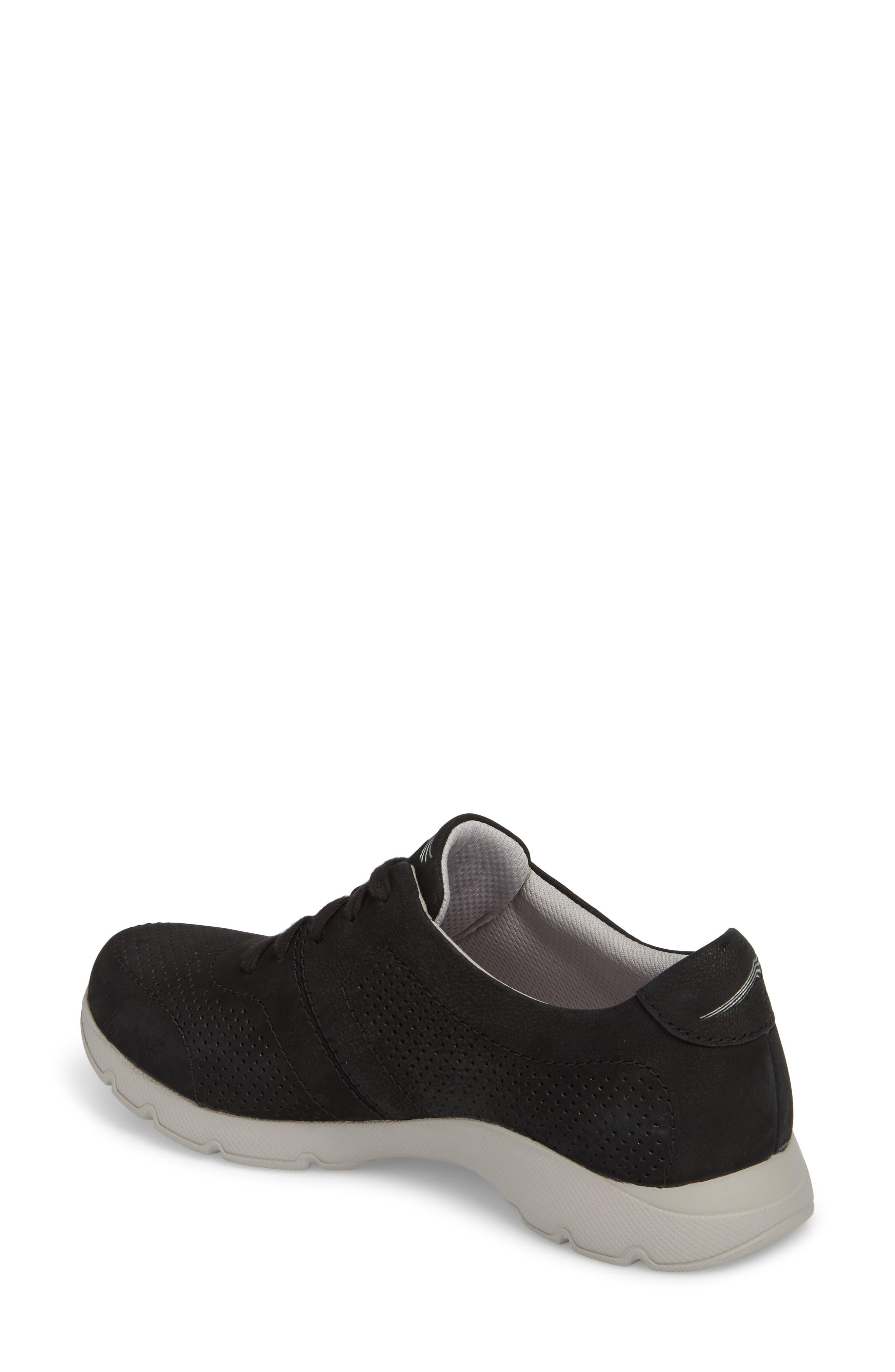 Alissa Sneaker,                             Alternate thumbnail 2, color,                             BLACK MILLED NUBUCK LEATHER
