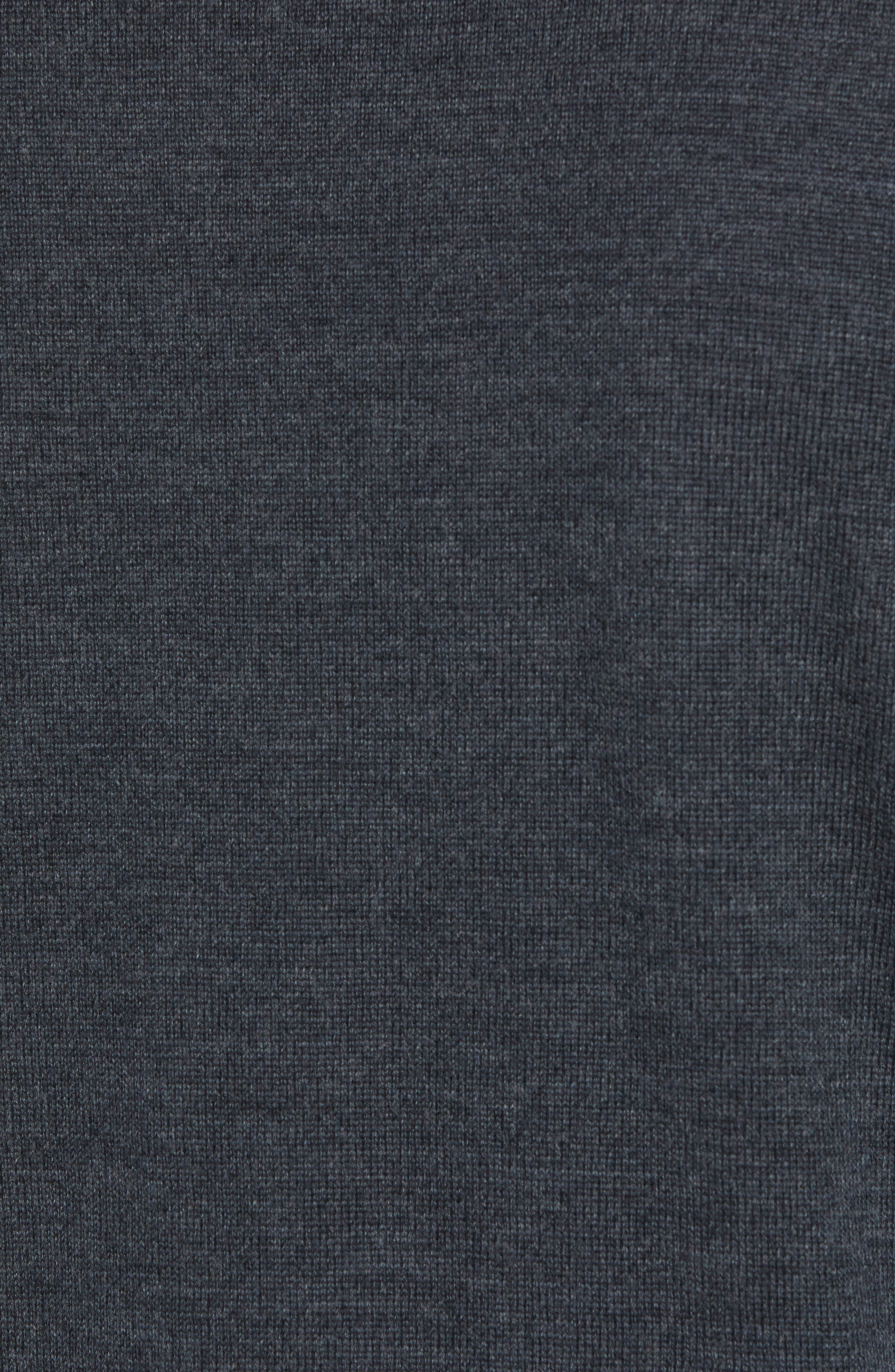 Slim Fit V-Neck Merino Wool Sweater,                             Alternate thumbnail 5, color,                             HEATHER CHARCOAL
