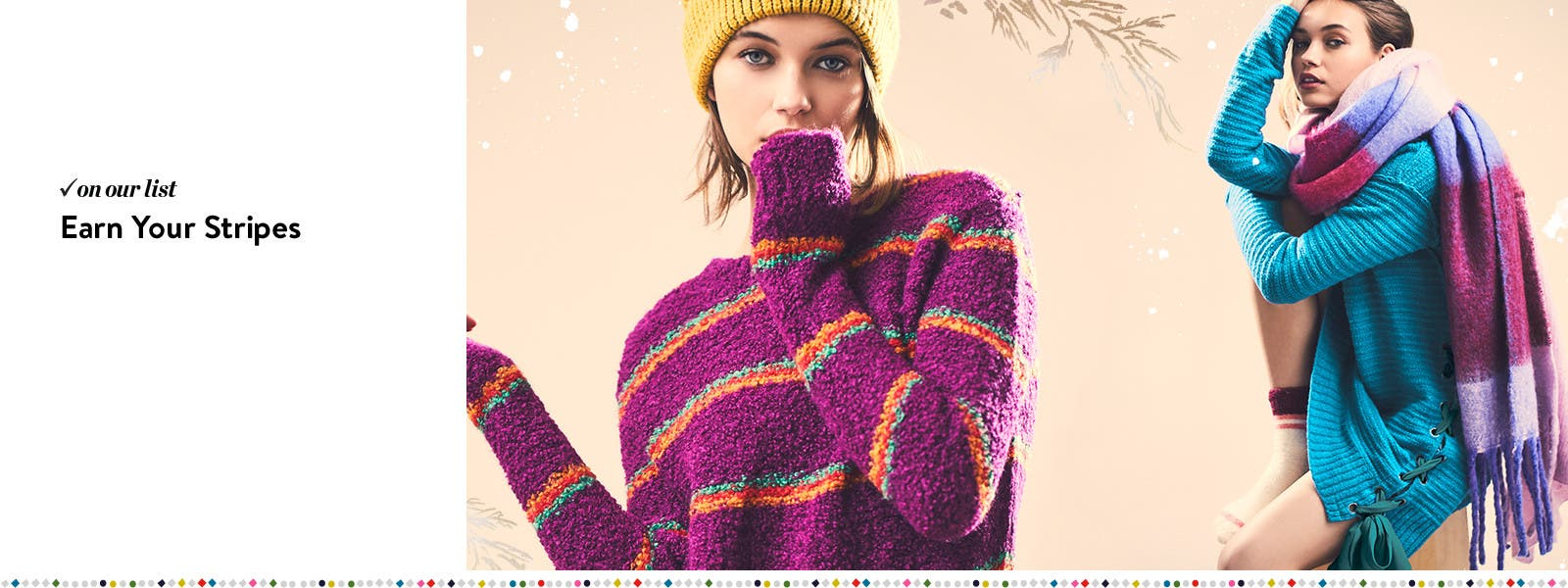 Earn your stripes in Free People sweaters and scarves.