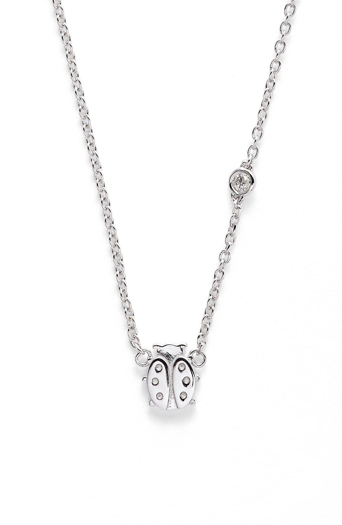 SYD BY SYDNEY EVAN Ladybug Necklace, Main, color, 040
